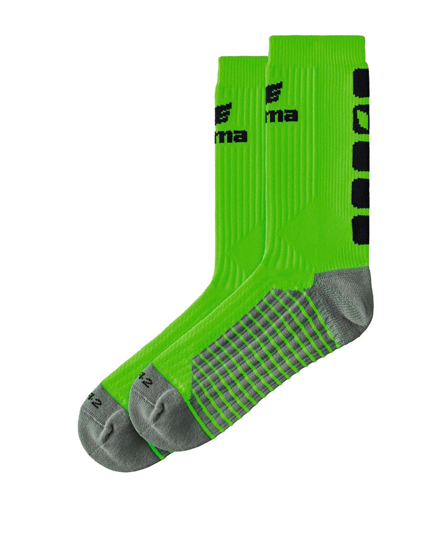 Erima CLASSIC 5-C Socken Grün Schwarz - Gruen