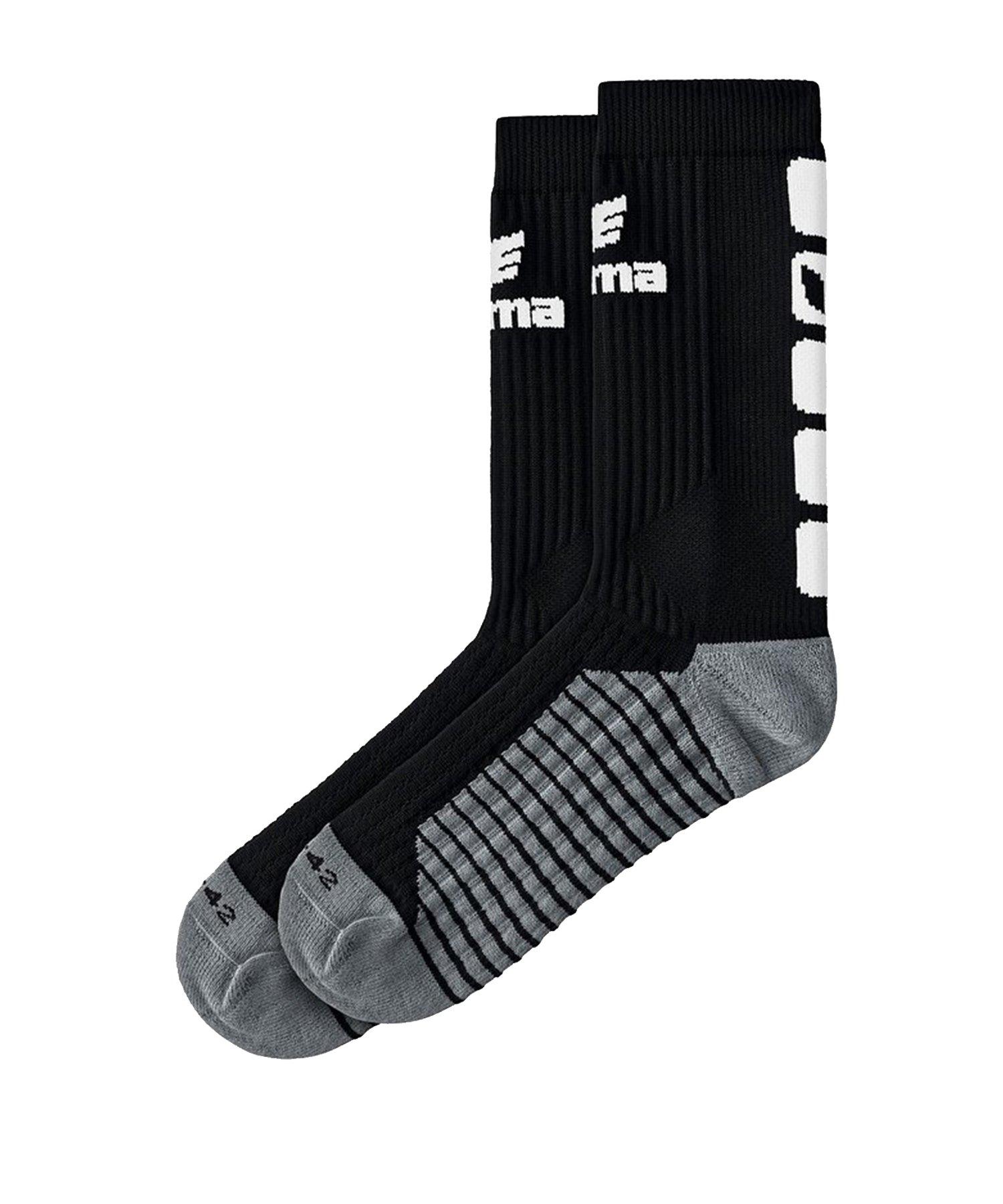 Erima CLASSIC 5-C Socken Schwarz Weiss - Schwarz