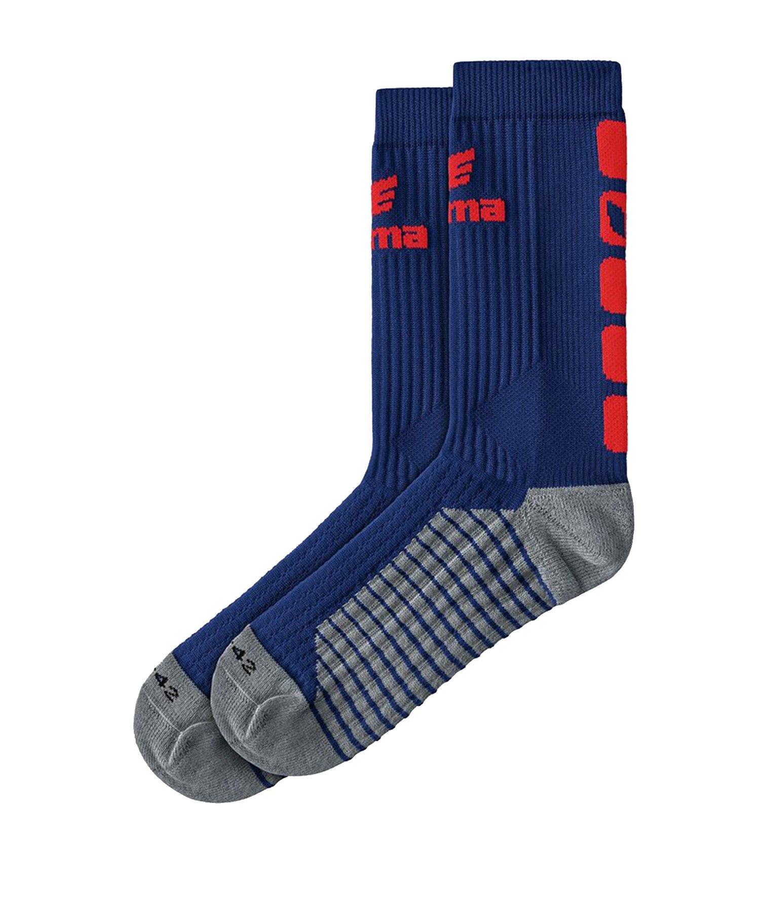 Erima CLASSIC 5-C Socken Blau Rot - Blau