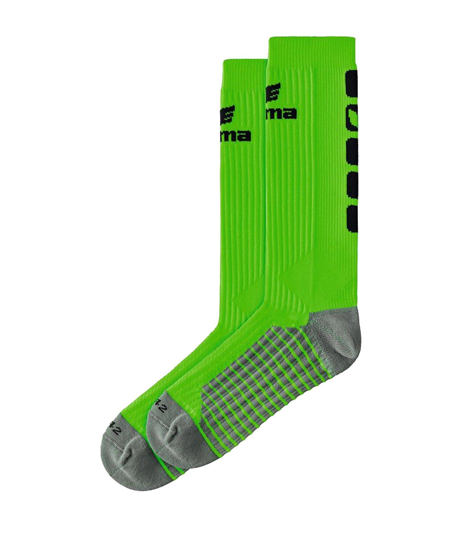 Erima CLASSIC 5-C Socken lang Grün Schwarz - Gruen