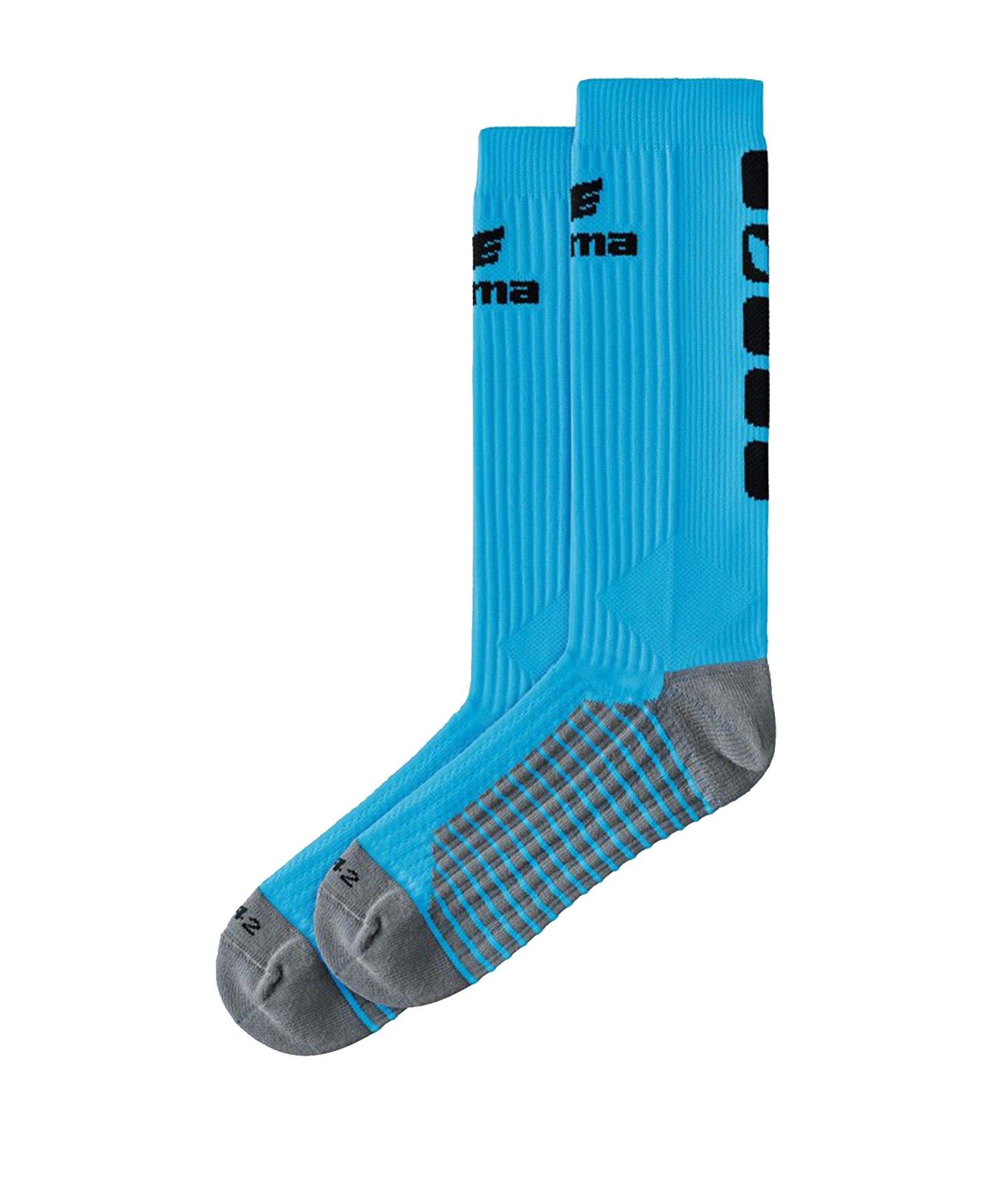Erima CLASSIC 5-C Socken lang Blau Schwarz - Blau