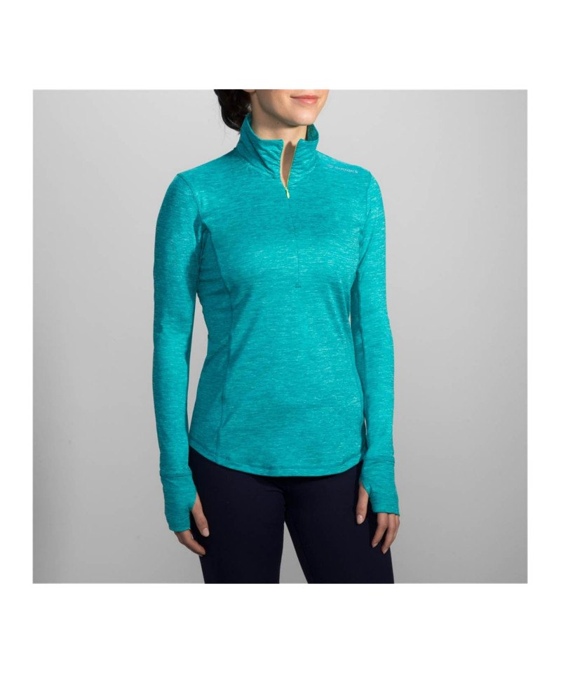 Brooks Dash 1/2 Zip Shirt Running Damen Blau F491 - blau