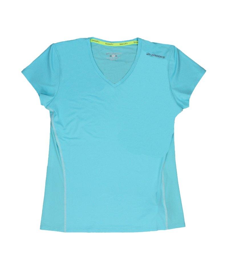 Brooks Steady T-Shirt Running Damen Türkis F498 - tuerkis