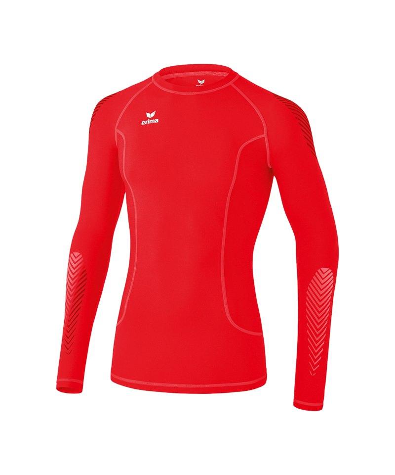 Erima Longsleeve Shirt Elemental Kinder Rot - rot