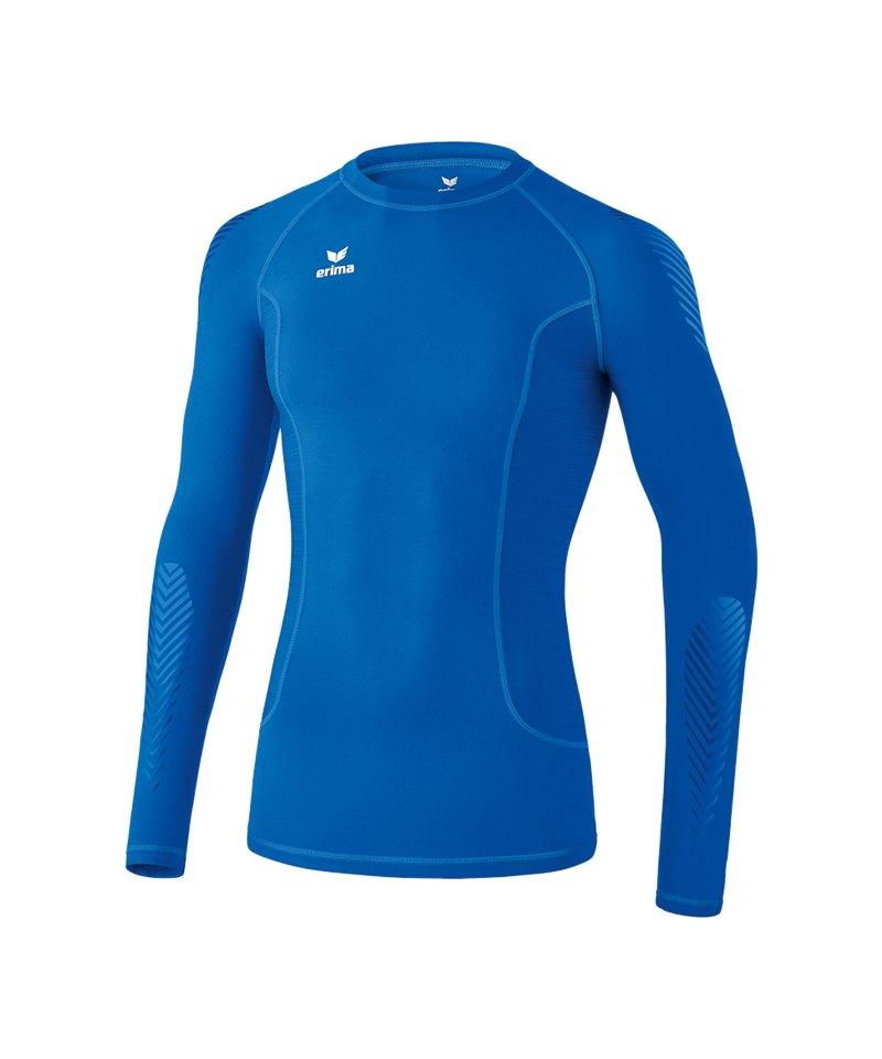 Erima Longsleeve Shirt Elemental Blau - blau