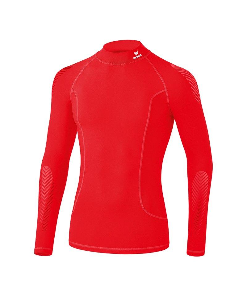 Erima Elemental LS Shirt mit Kragen Kids Rot - rot
