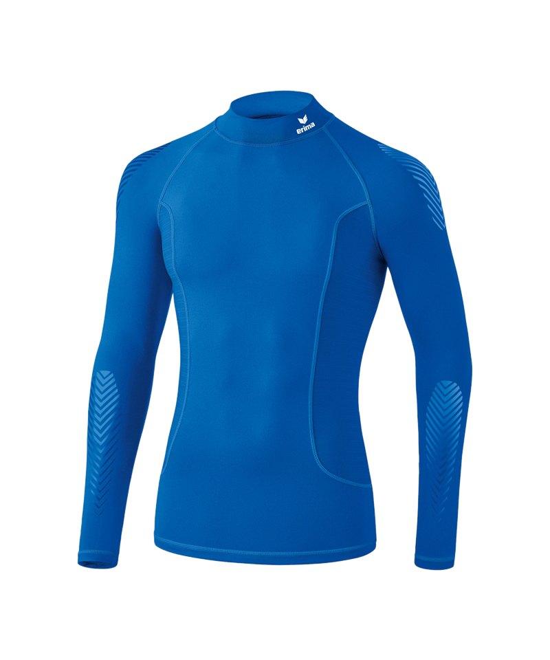 Erima Elemental LS Shirt mit Kragen Kids Blau - blau