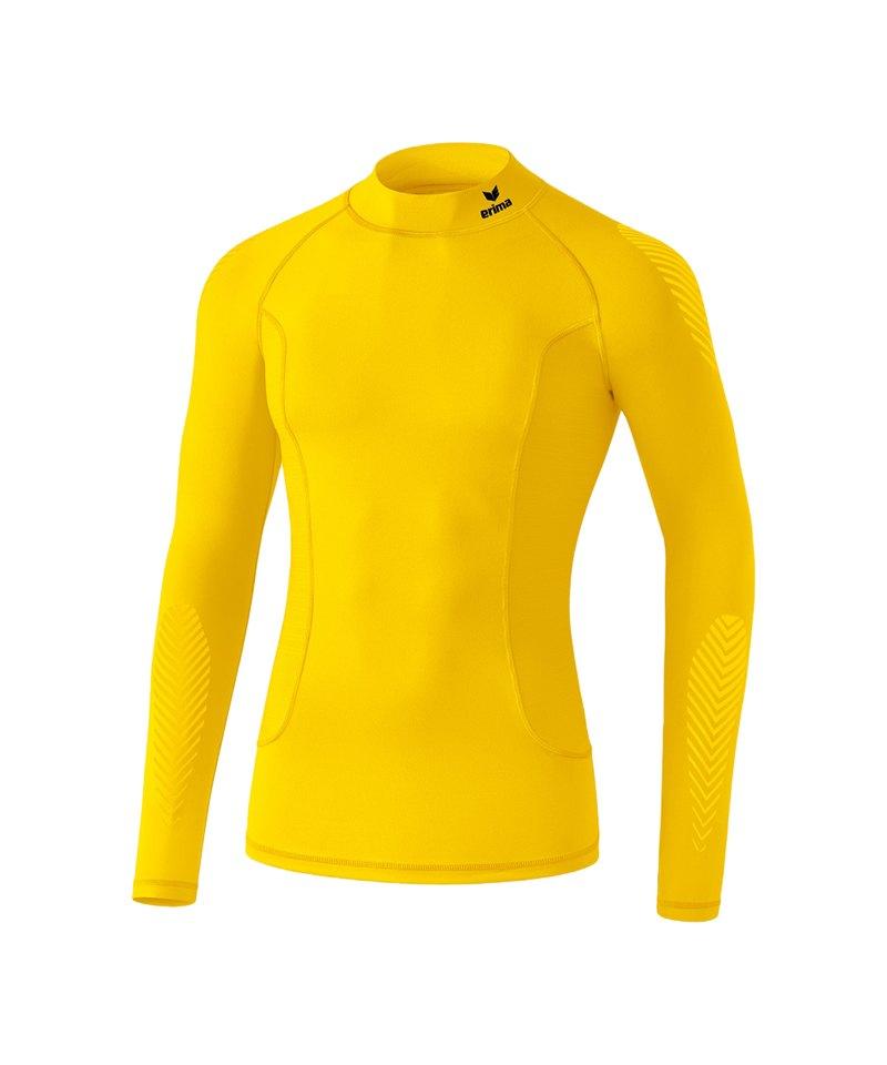 Erima Elemental LS Shirt mit Kragen Kids Gelb - gelb
