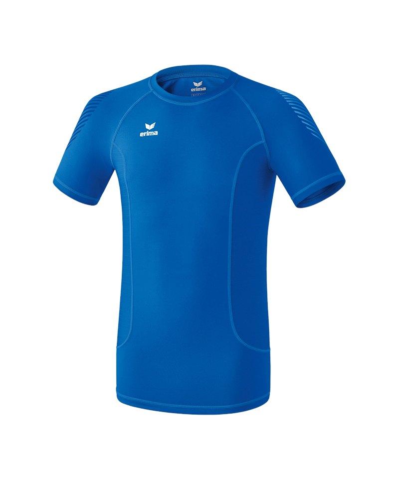 Erima Elemental Shortsleeve Shirt Blau - rot