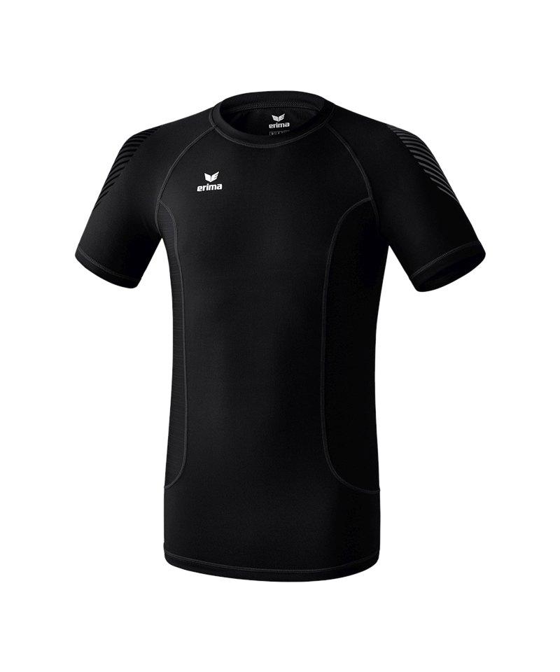 Erima Elemental Shortsleeve Shirt Schwarz - schwarz