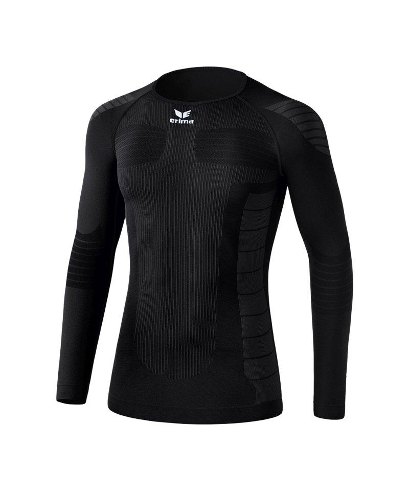 Erima Functional Longsleeve Shirt Kinder Schwarz - schwarz