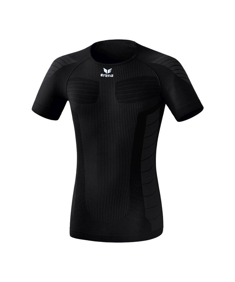 Erima Functional Shortsleeve Shirt Schwarz - schwarz