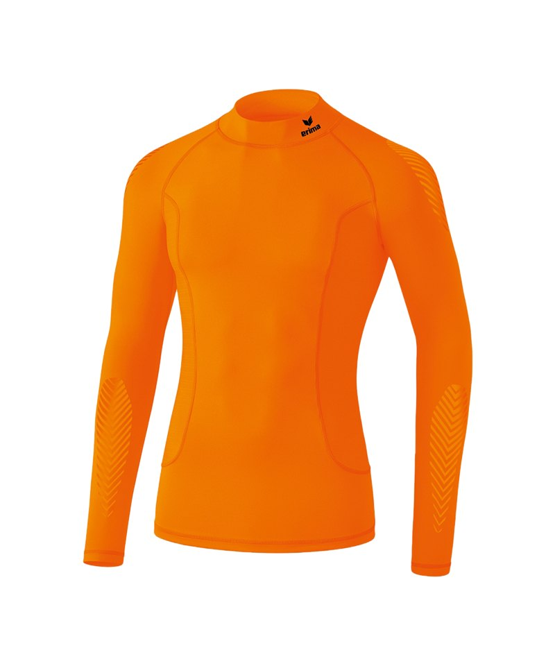 Erima Elemental LS Shirt mit Kragen Orange - orange