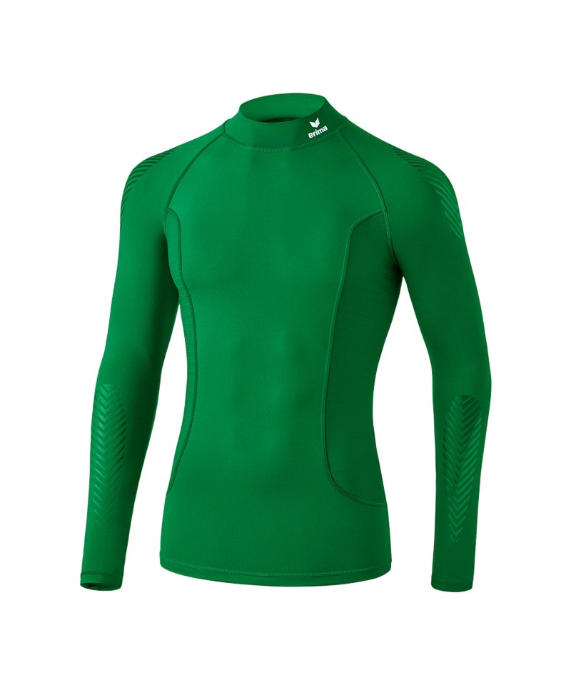 Erima Elemental LS Shirt mit Kragen Kids D-Grün - gruen