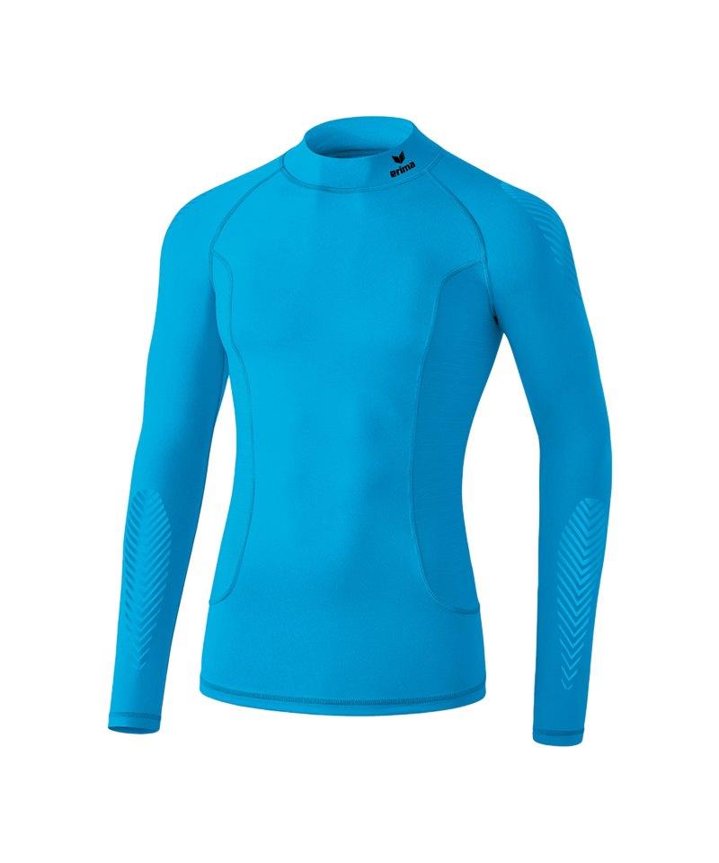 Erima Elemental LS Shirt mit Kragen Hellblau - blau