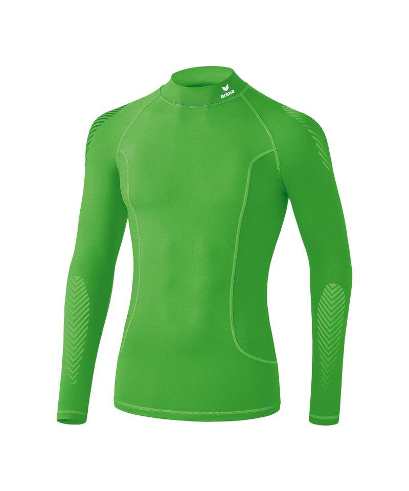 Erima Elemental LS Shirt mit Kragen Grün - gruen