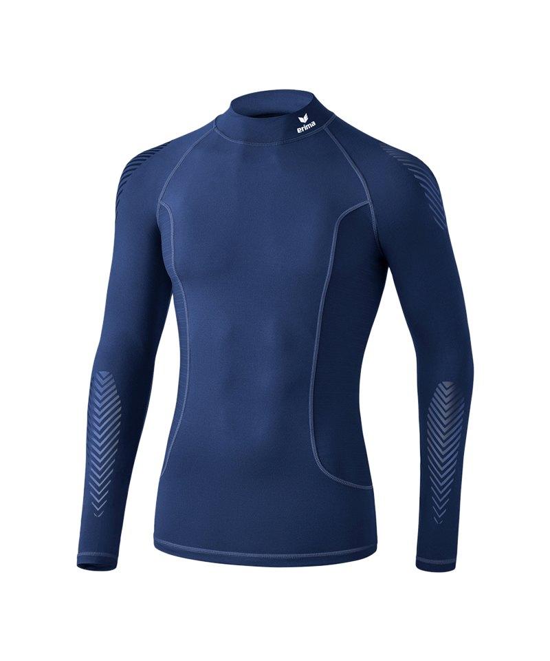 Erima Elemental LS Shirt mit Kragen Dunkelblau - blau