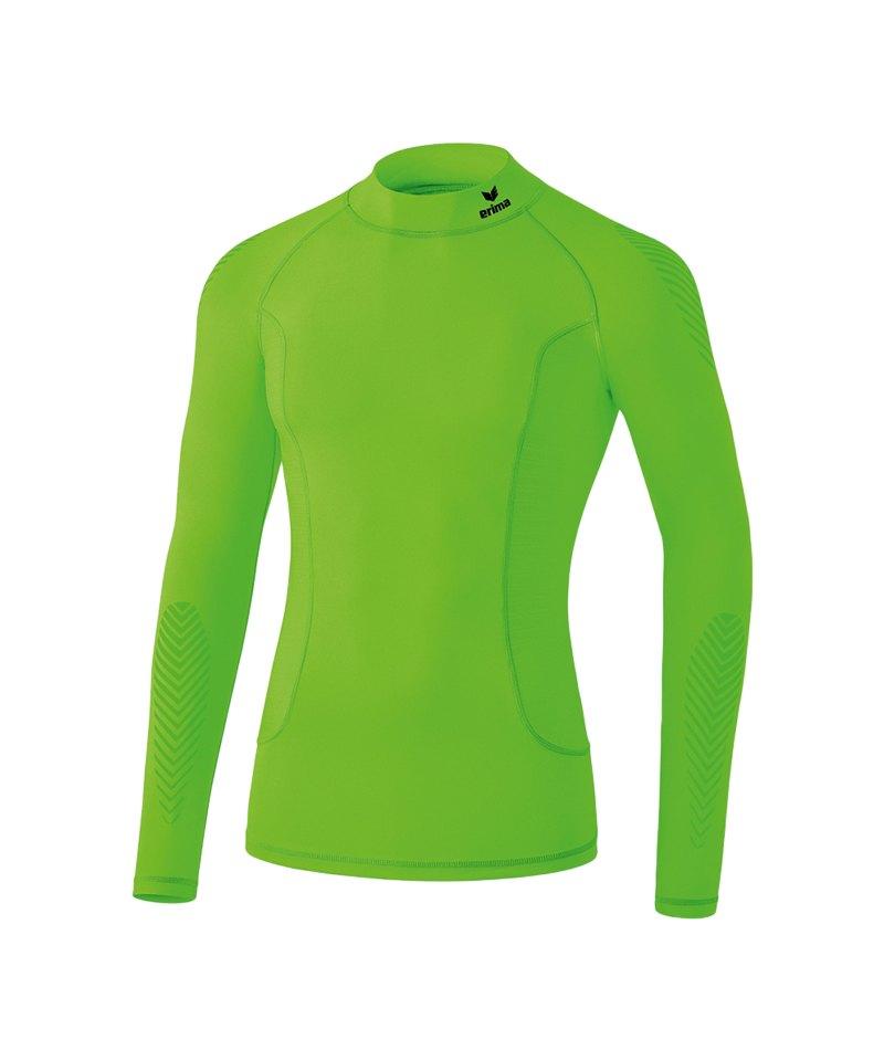 Erima Elemental LS Shirt mit Kragen Hellgrün - gruen
