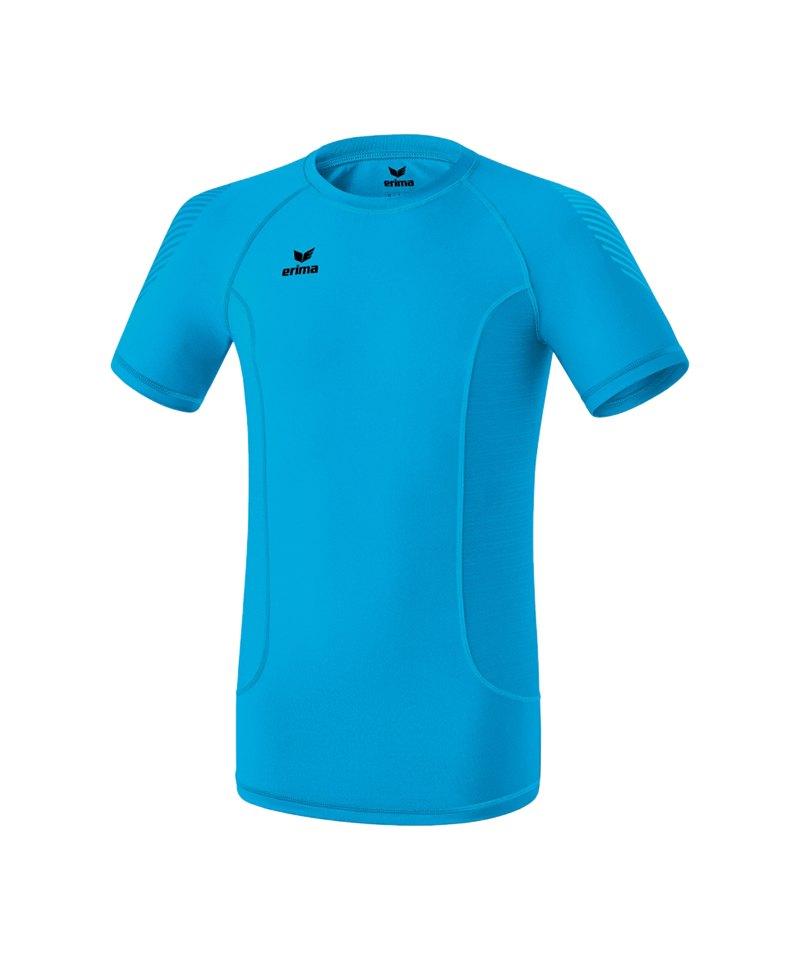 Erima Elemental Shortsleeve Shirt Blau - blau