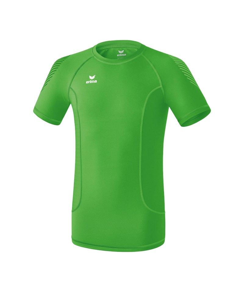 Erima Elemental Shortsleeve Shirt Grün - gruen