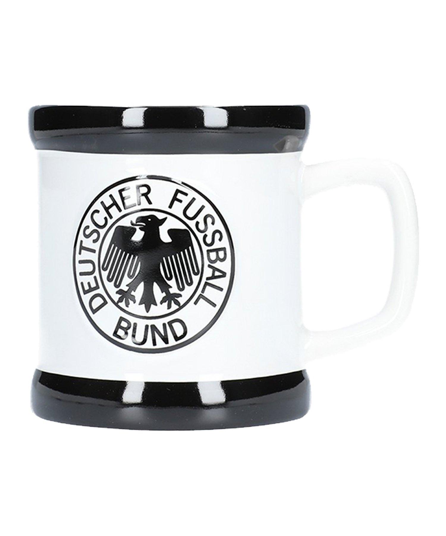 DFB Deutschland Retro Tasse Weiss Schwarz - Weiss