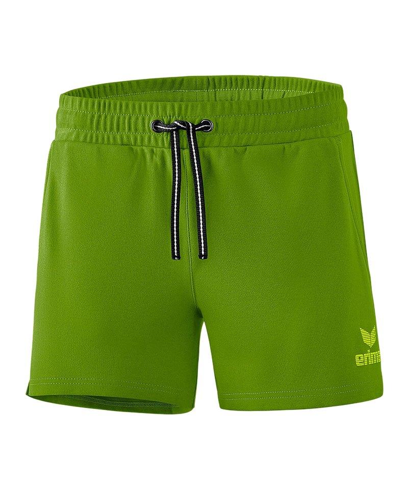 Erima Essential Sweat Short Damen Grün - gruen