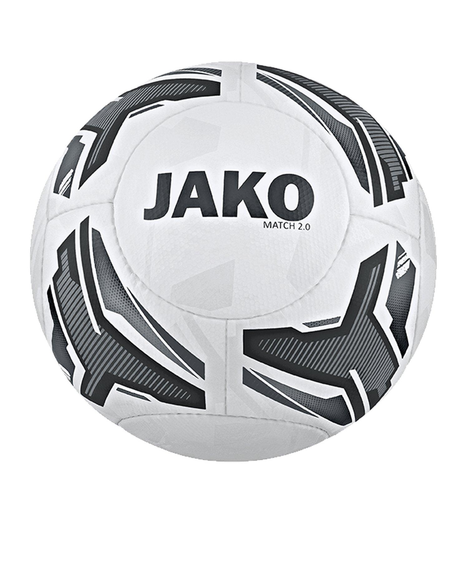JAKO Match 2.0 Trainingsball Weiss F40 - weiss