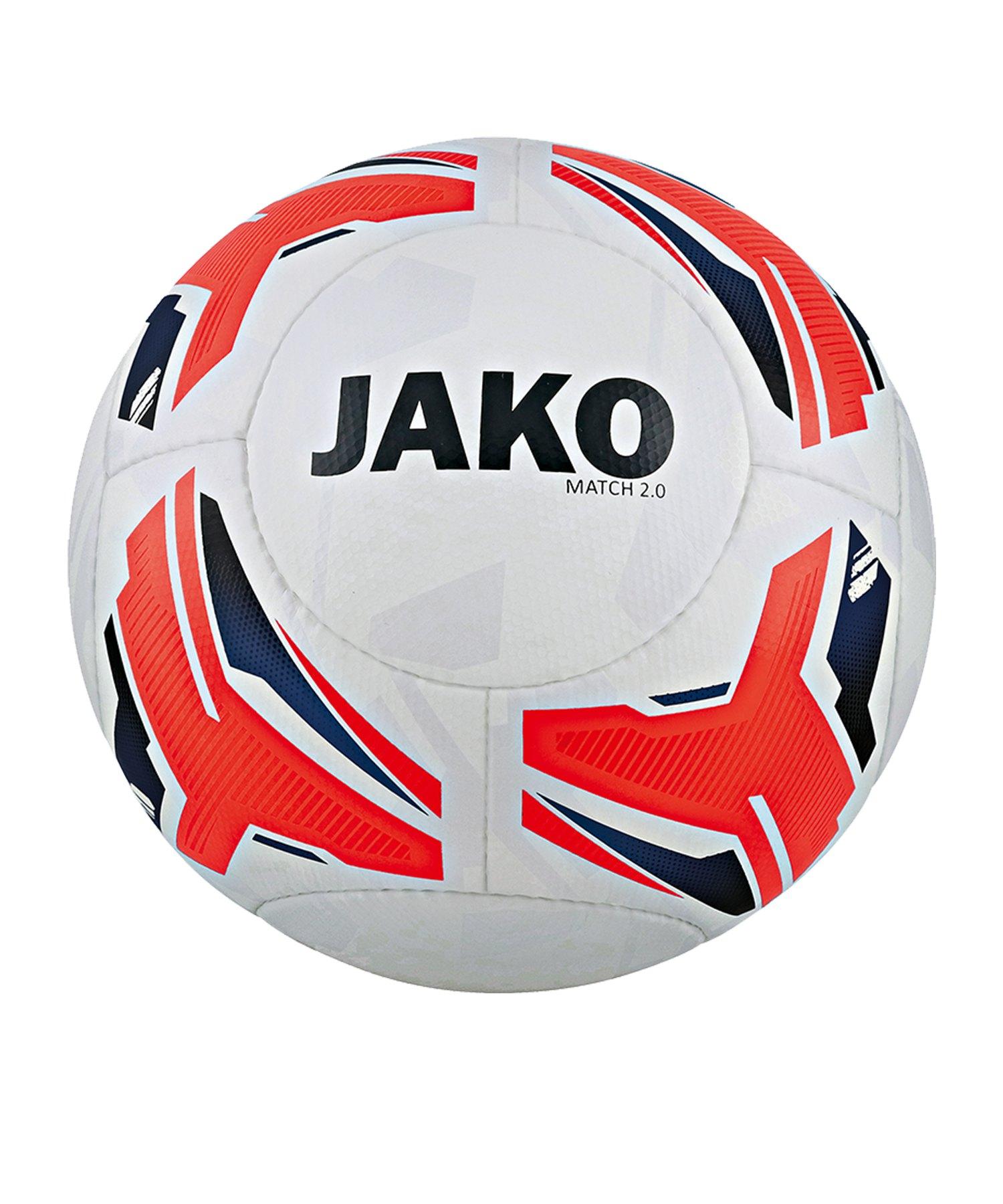 Jako Match 2.0 Trainingsball Weiss Orange Blau F23 - Weiss