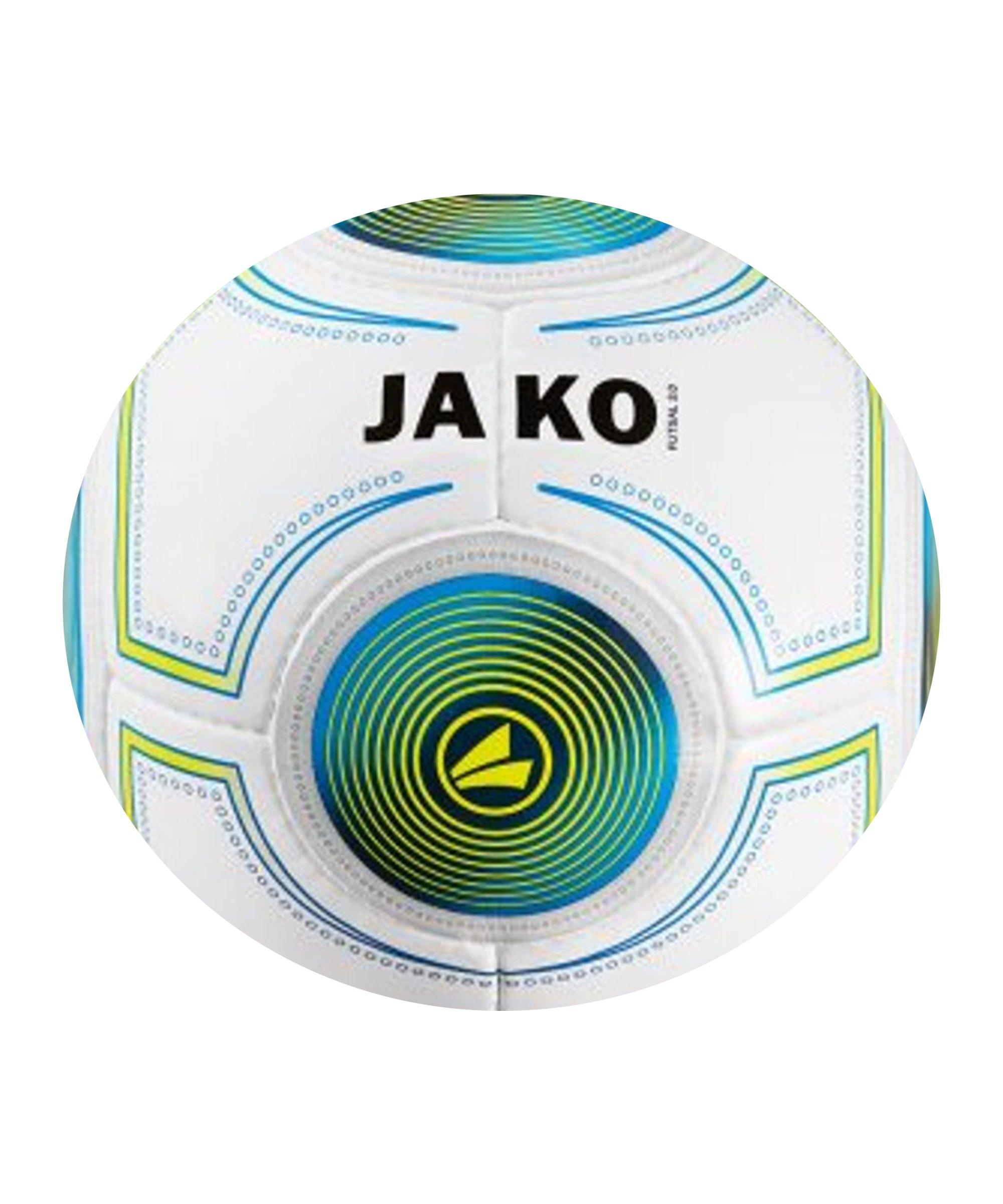 Jako Futsal 3.0 Fussball 420g Weiss Blau F18 - weiss