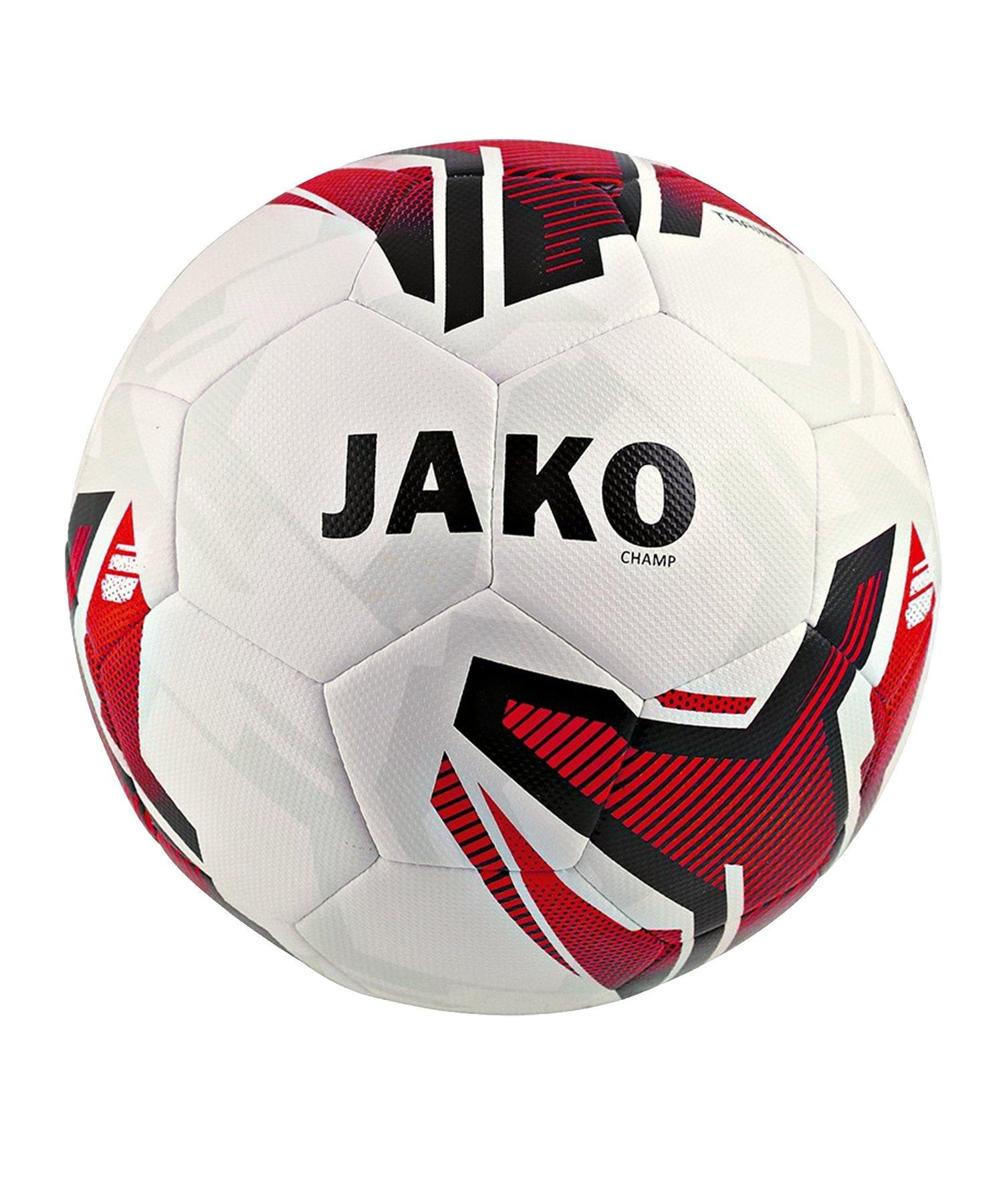 Jako Ball Champ Trainingsball Weiss Rot F00 - Weiss
