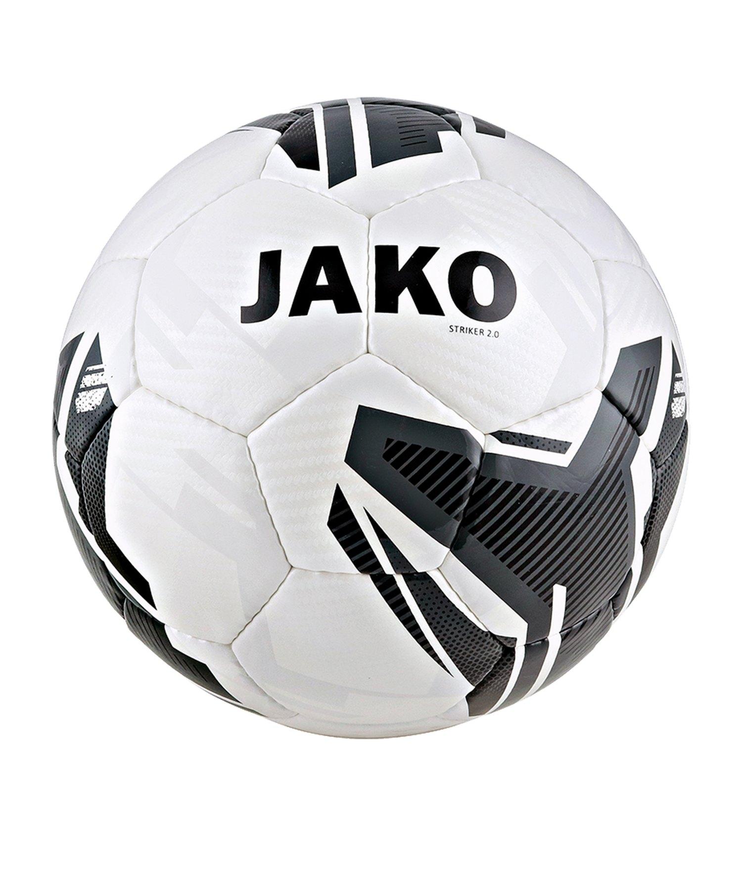 Jako Striker 2.0 Trainingsball Weiss Grau F21 - Weiss