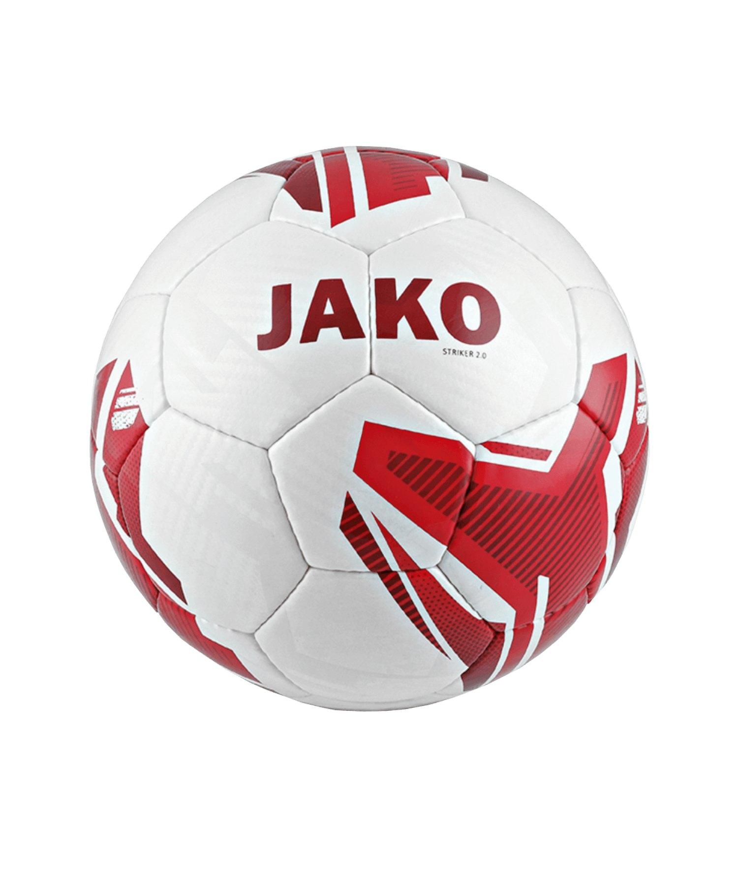 JAKO Striker 2.0 Trainingsball Weiss Rot F01 - Weiss