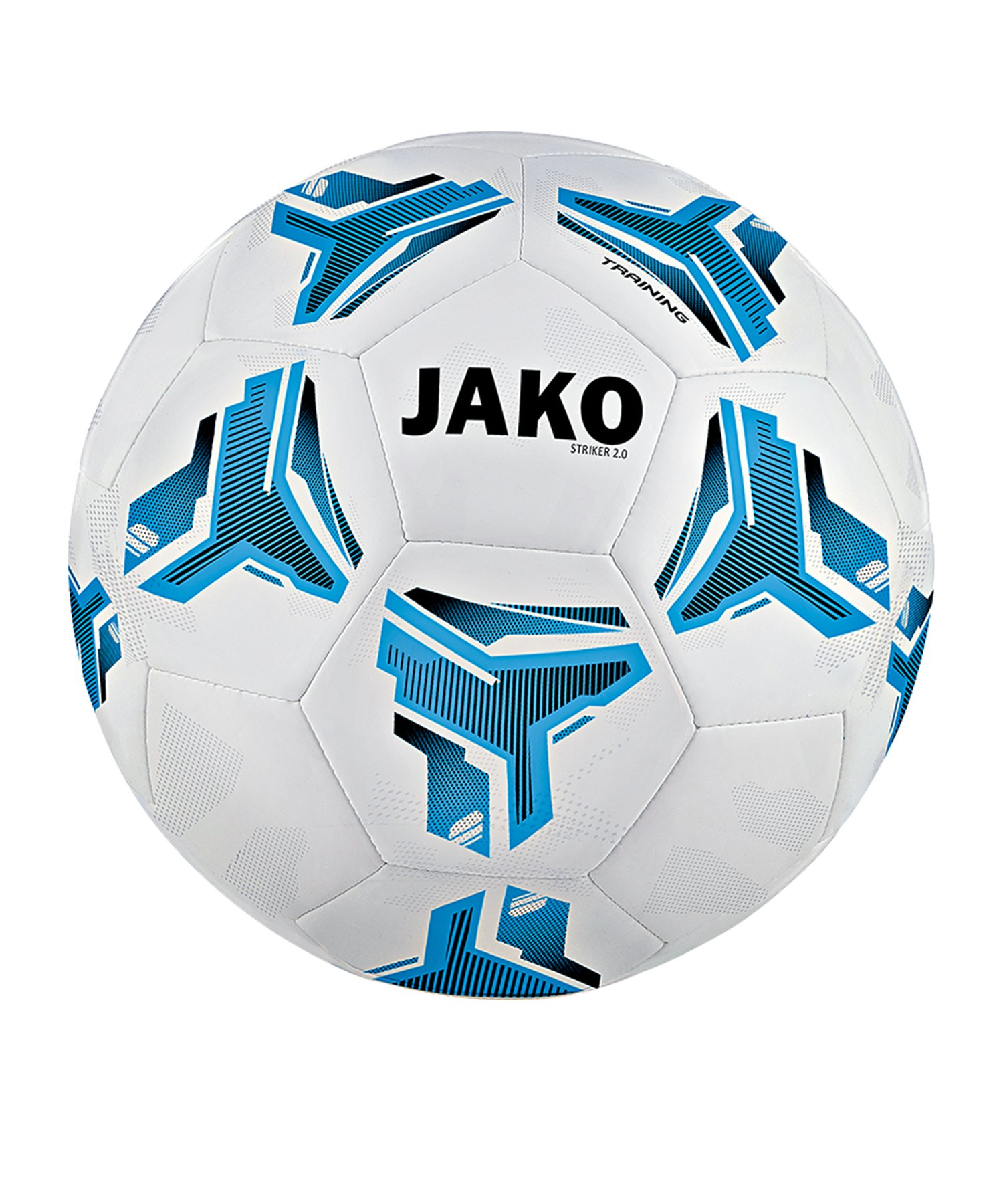 Jako Striker 2.0 Trainingsball MS Weiss Blau F18 - Weiss