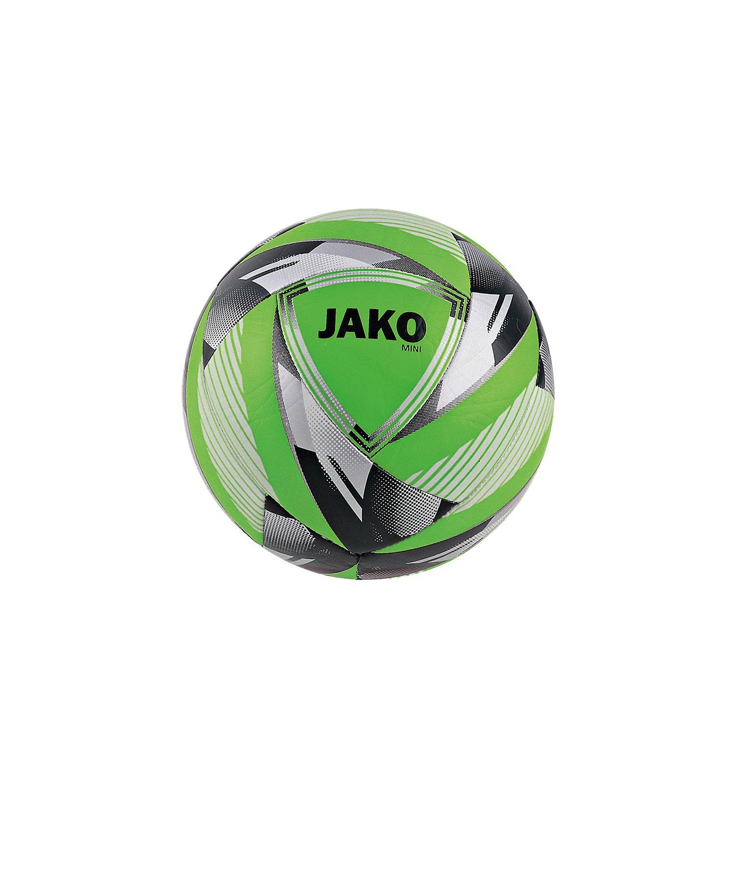 Jako Miniball Neon Grün Silber F25 - Gruen