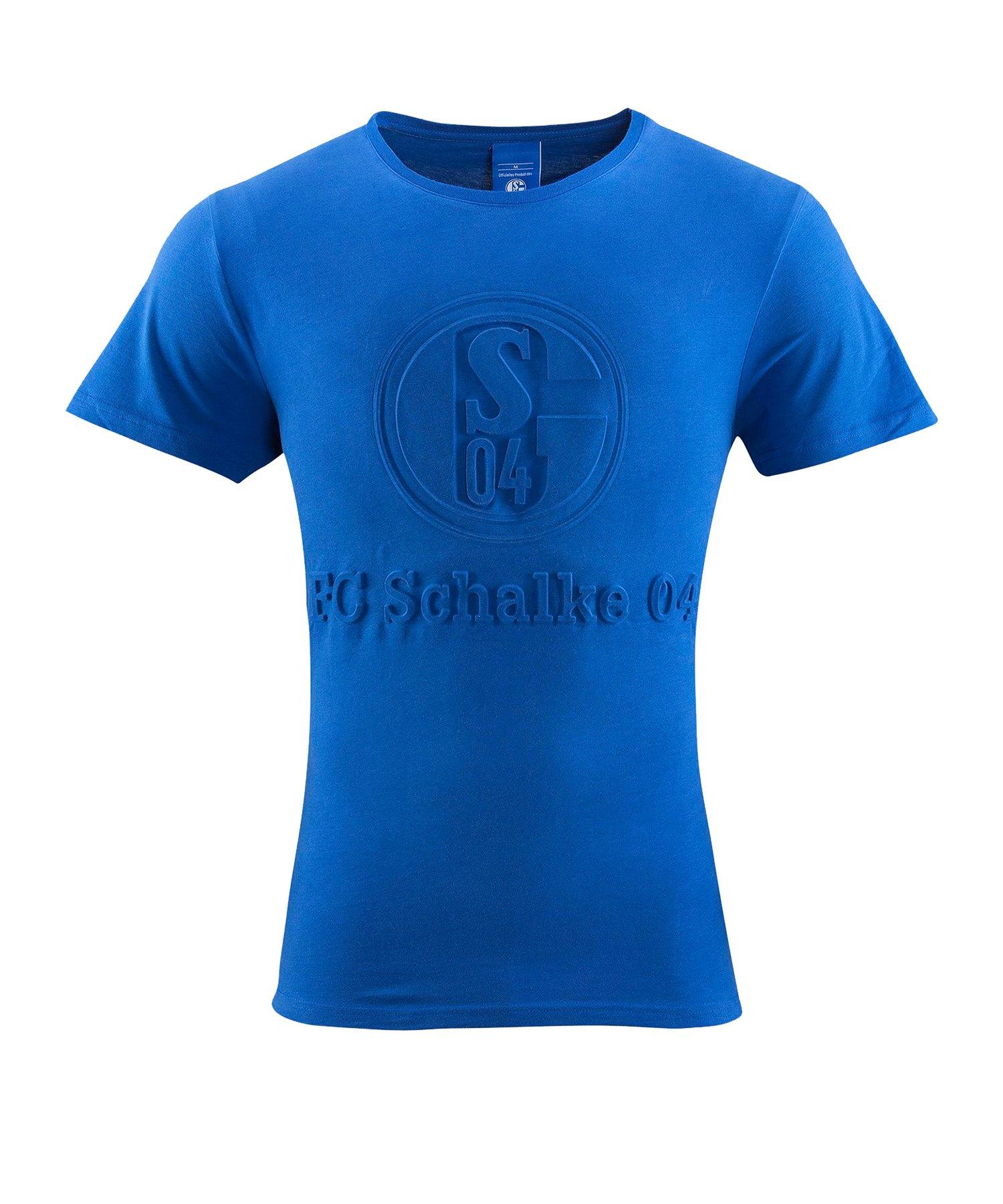FC Schalke 04 T-Shirt Prägung - blau