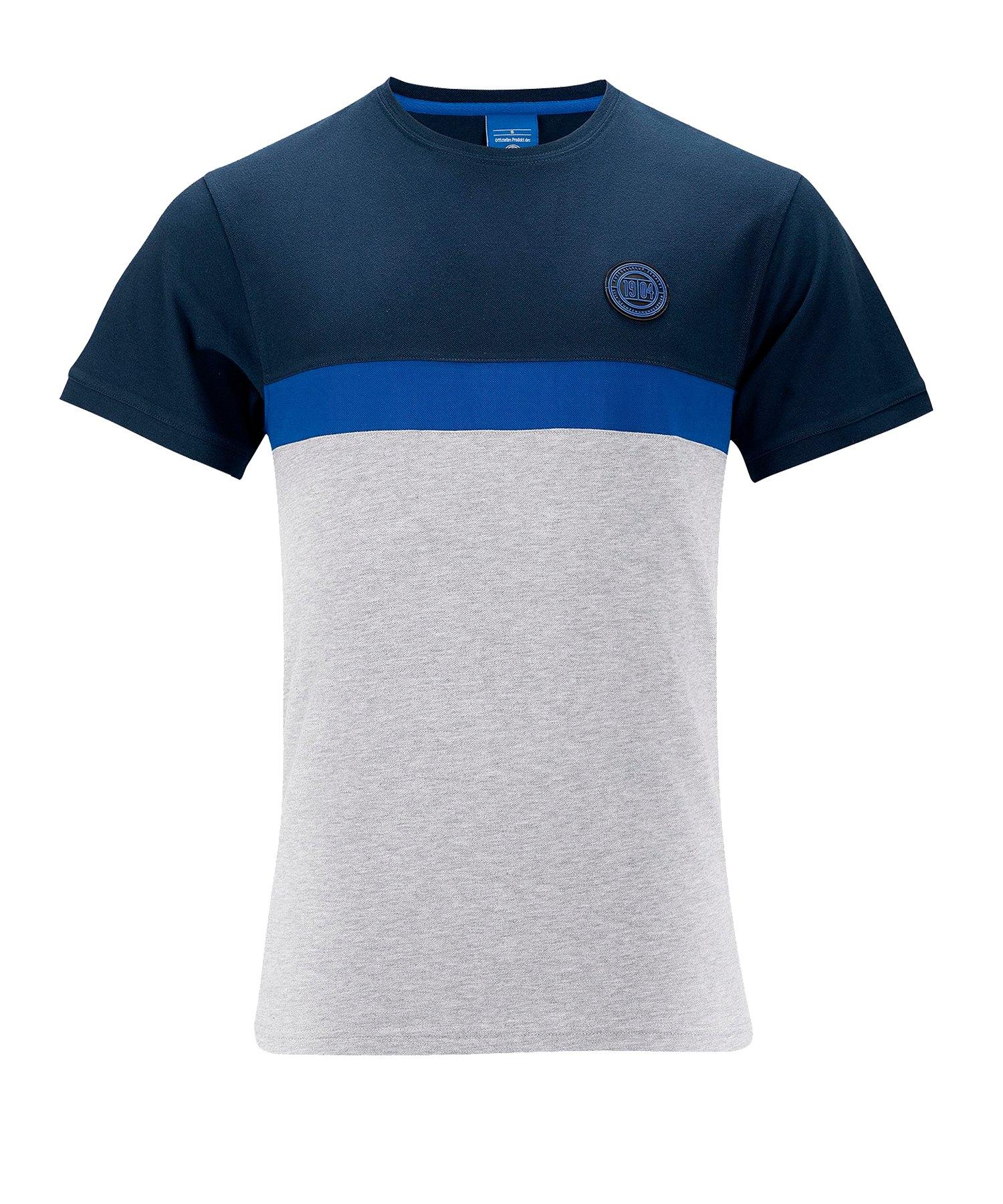 FC Schalke 04 Block Tee T-Shirt Blau - blau