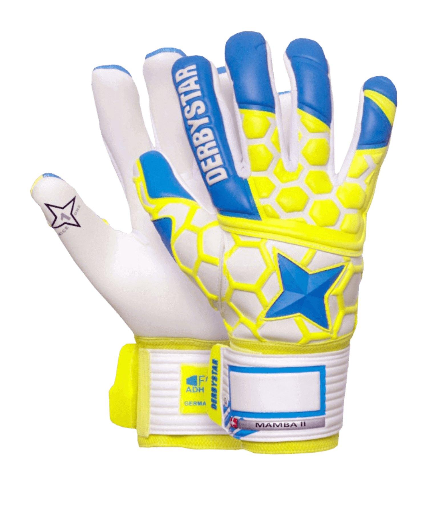 Derbystar Mamba II Torwarthandschuh Blau Gelb F000 - blau