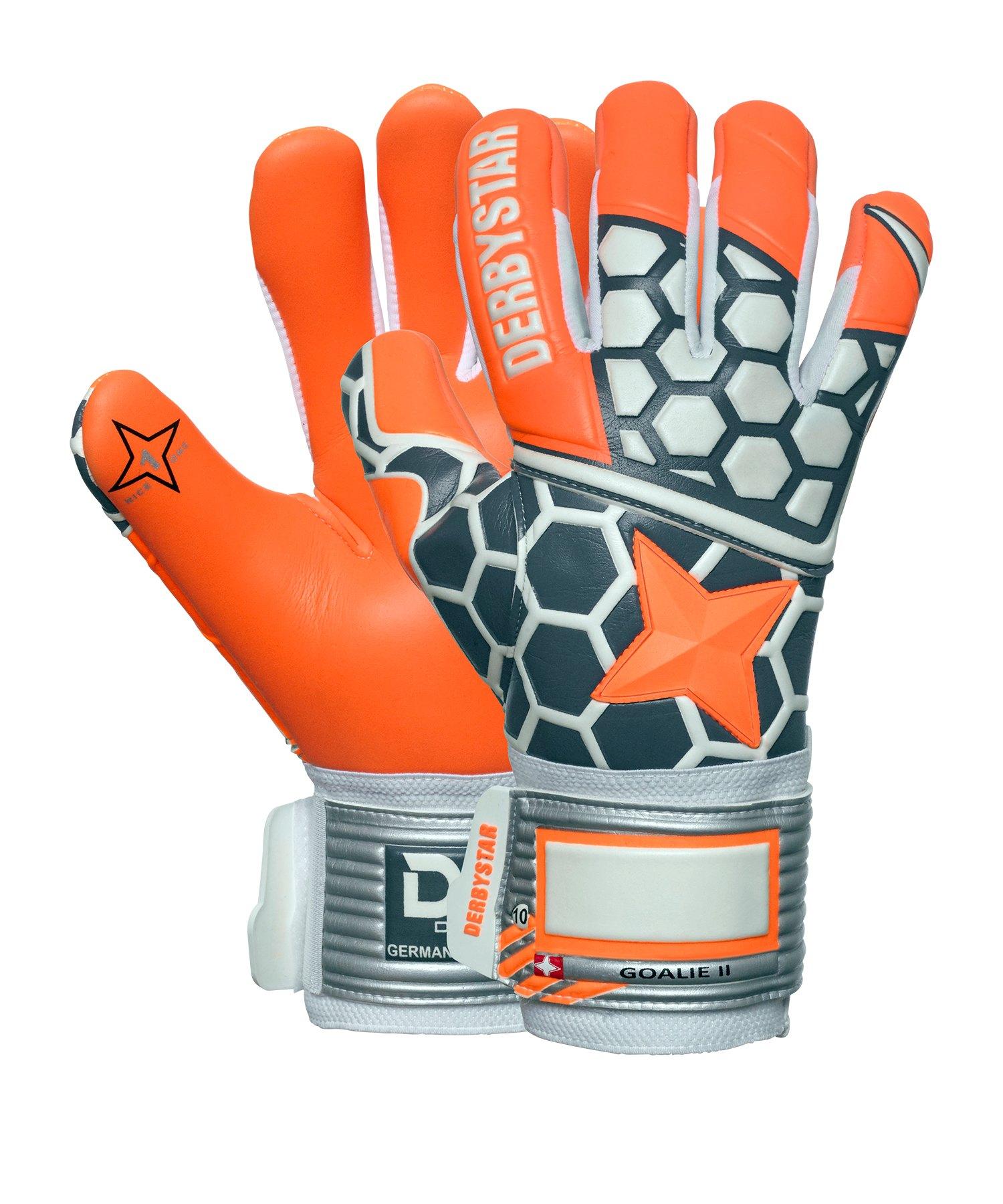 Derbystar Goalie II Torwarthandschuh Orange Grau - orange