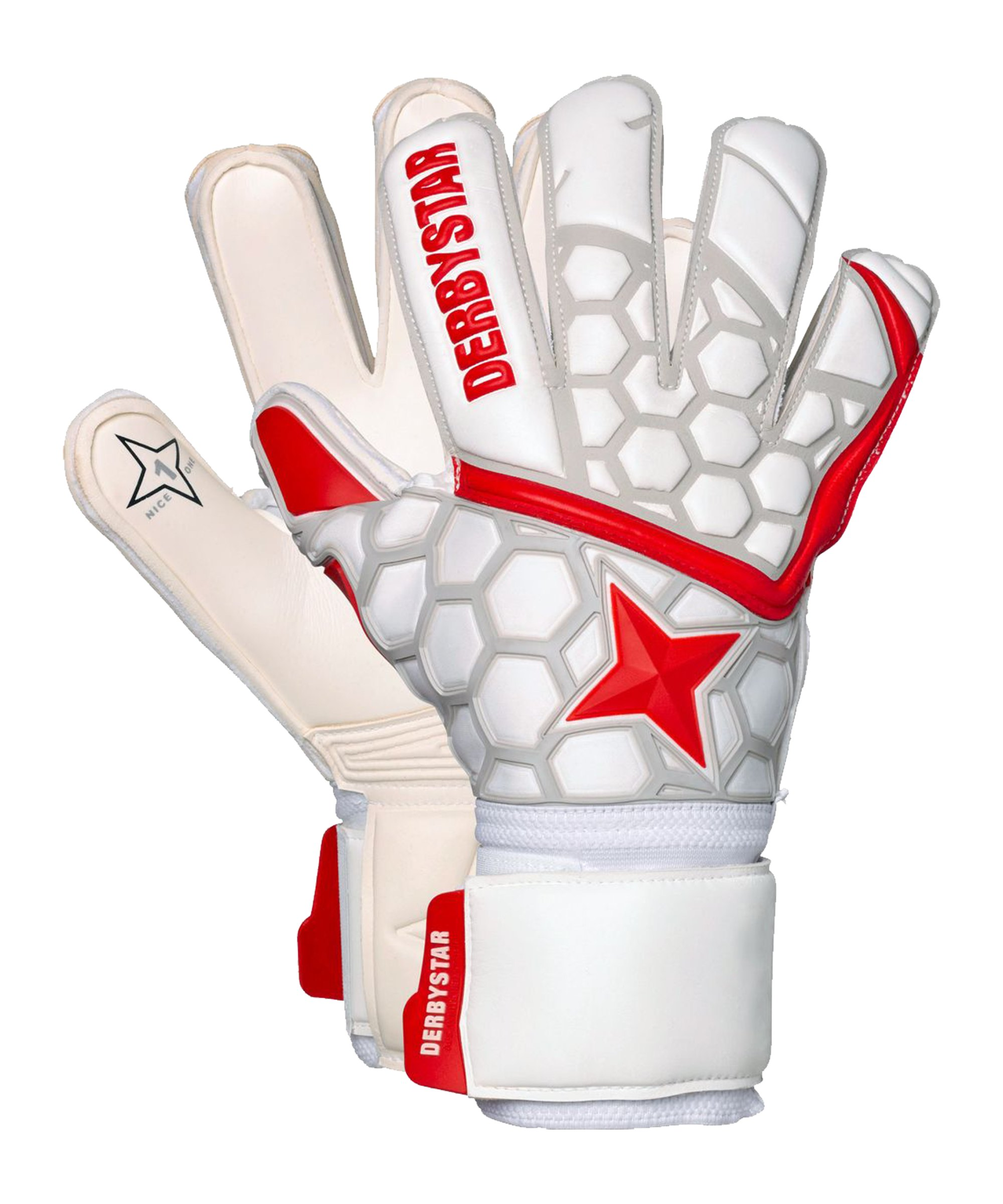 Derbystar APS Star II TW-Handschuh Weiss Rot F000 - weiss