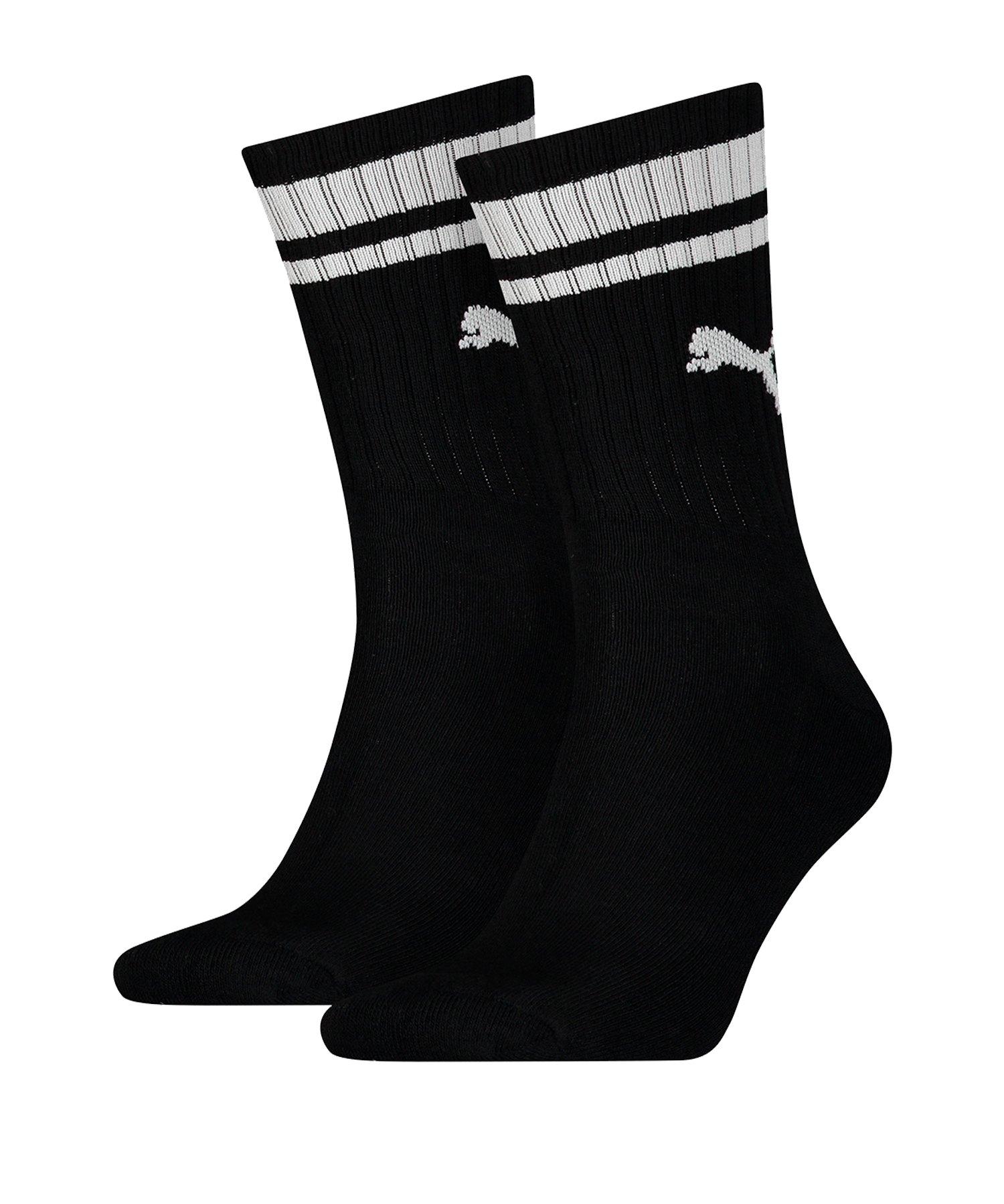 PUMA Crew Heritage Stripe 2er Pack Socken F200 - schwarz