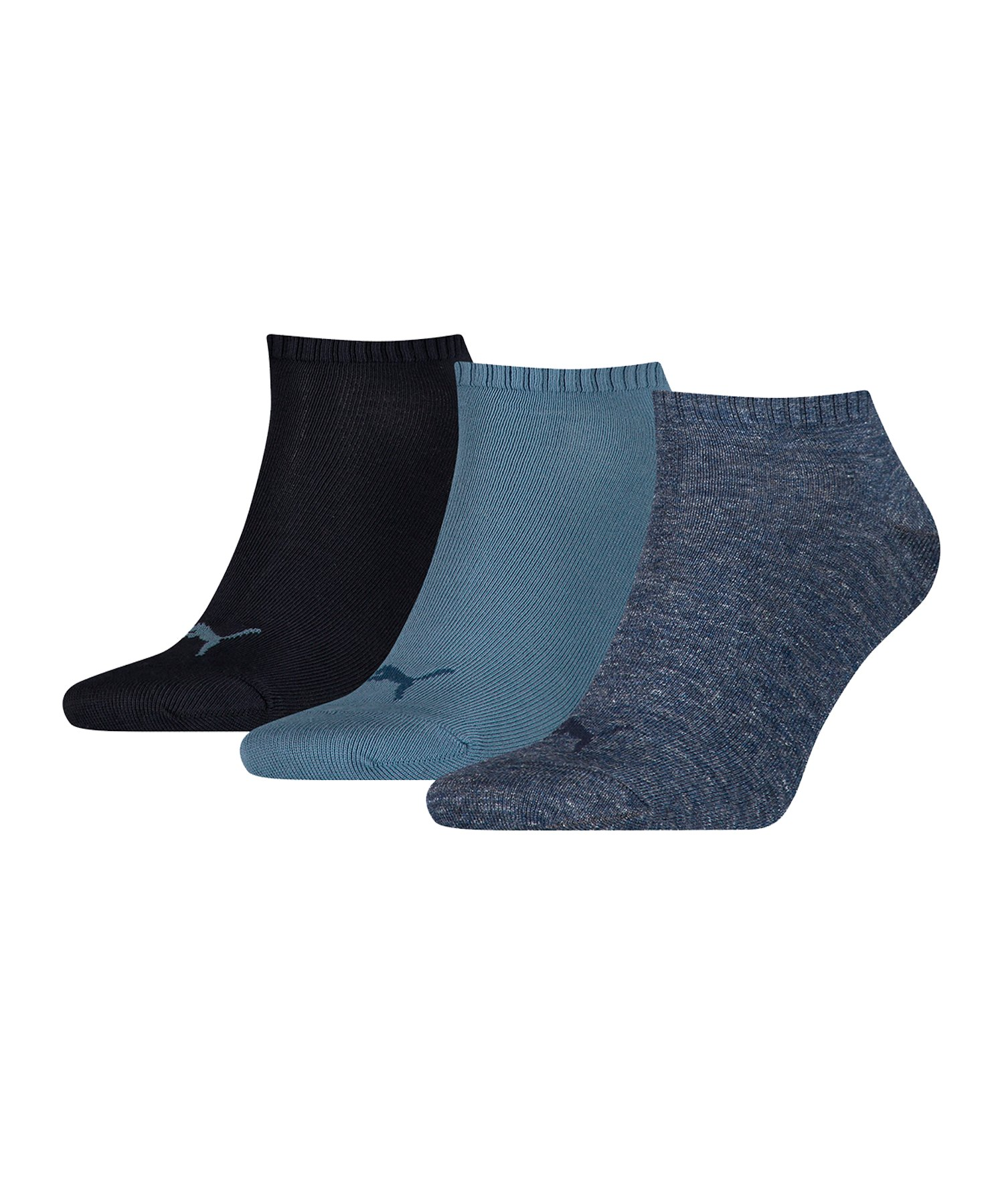 PUMA Unisex Sneaker Plain 3er Pack Socken F460 - blau