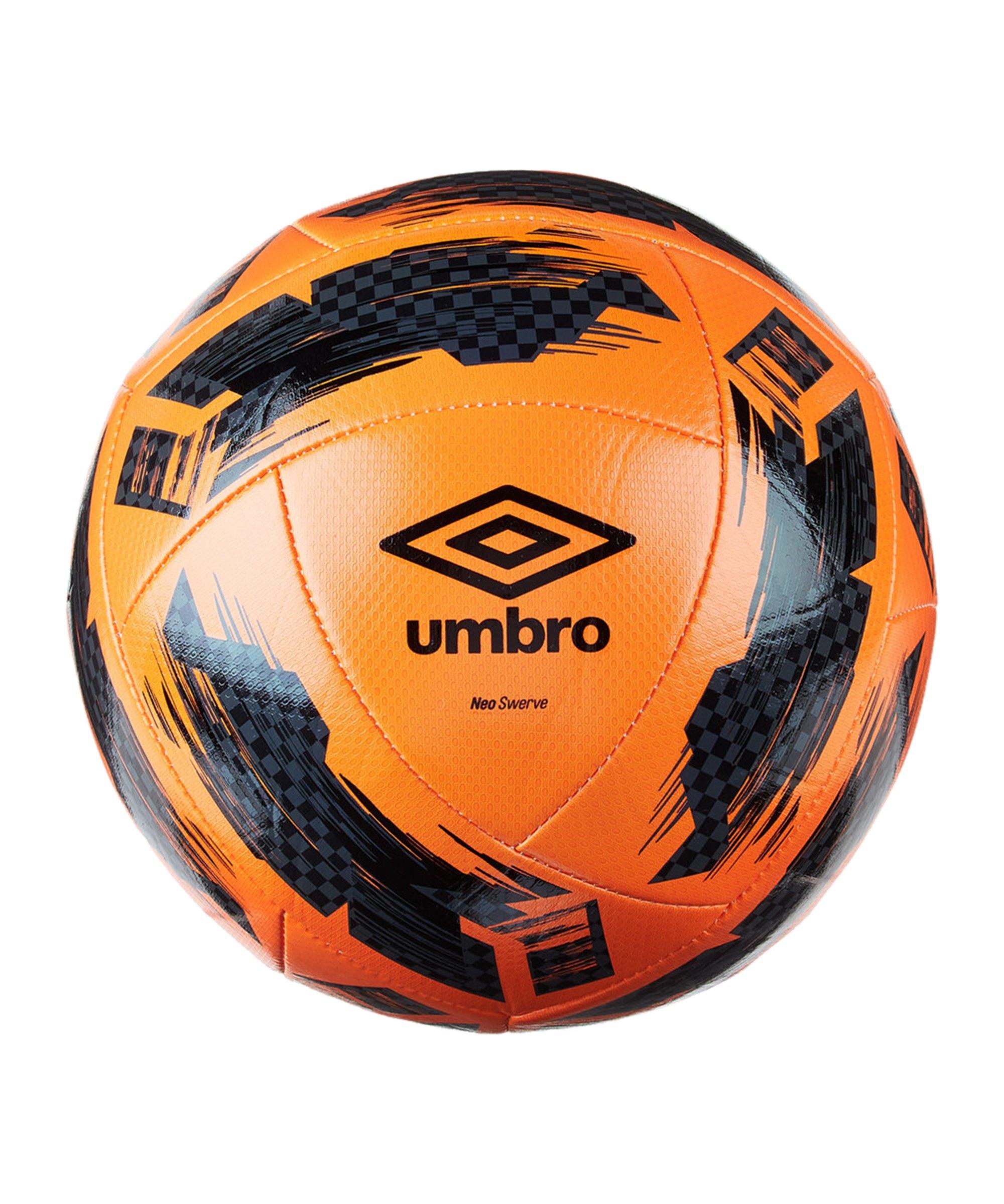 Umbro Neo Swerve Trainingsball Orange Schwarz F095 - orange