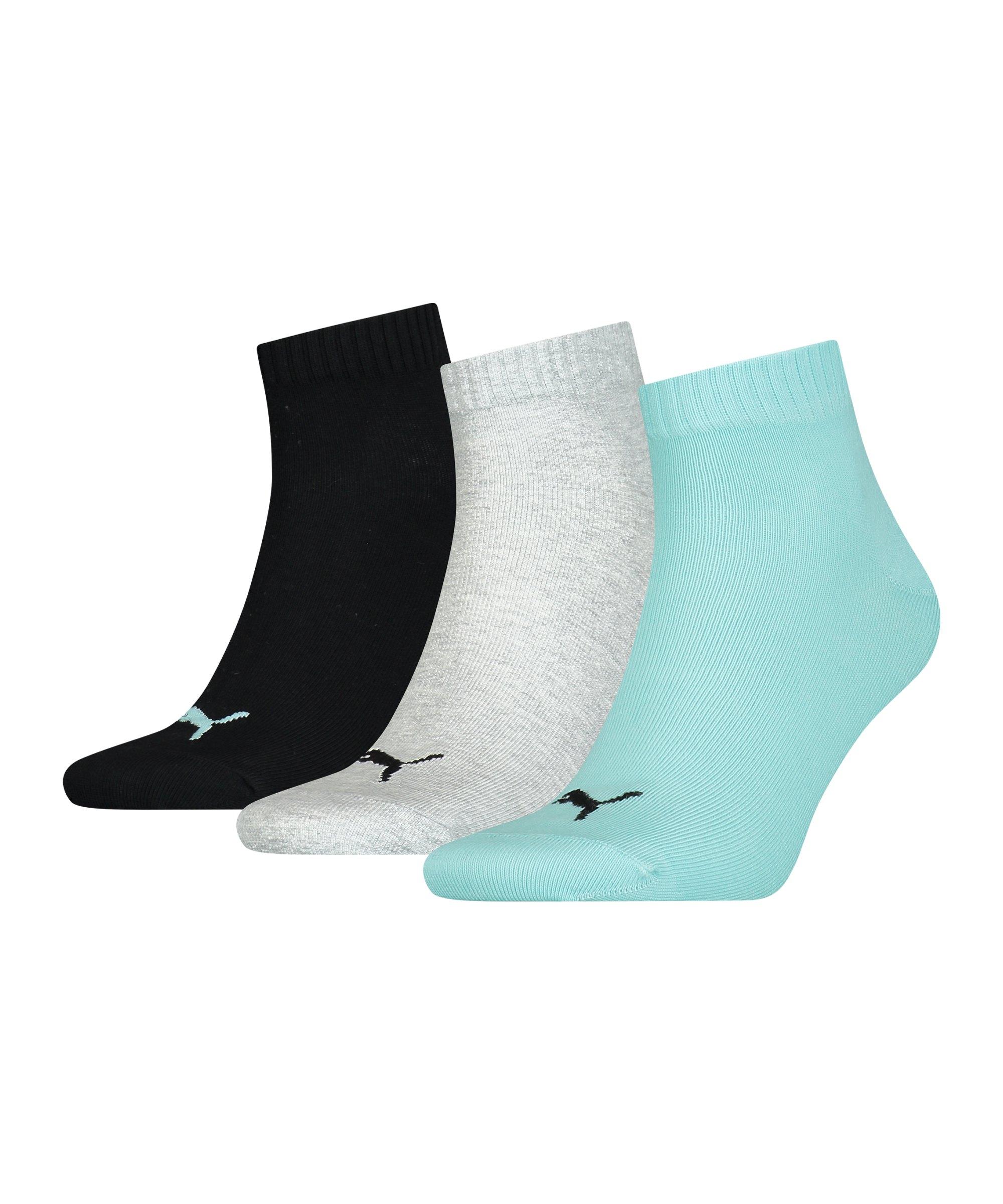 PUMA Unisex Quarter Plain 3er Pack Socken F014 - mehrfarbig