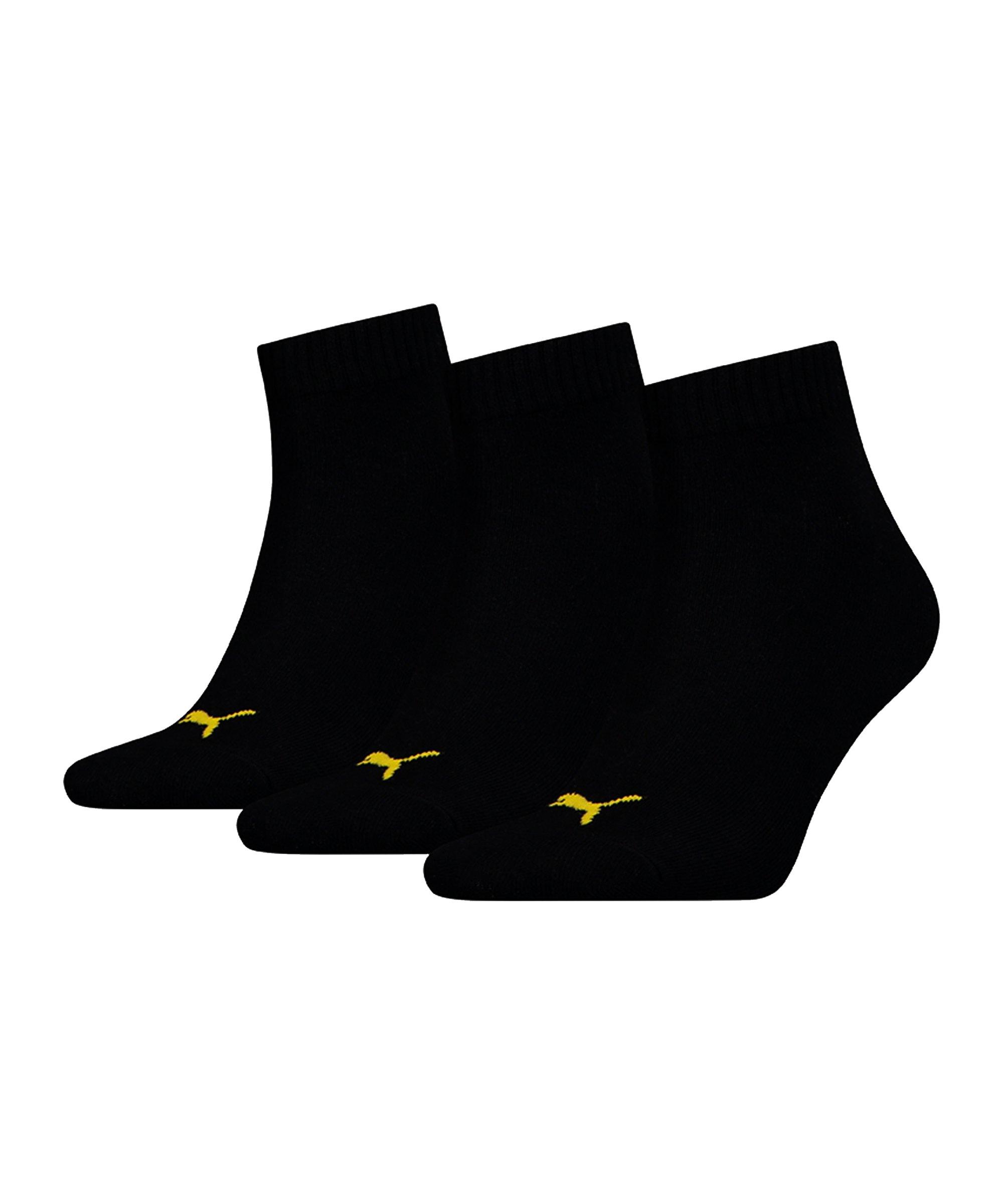 PUMA X Dortmund 3er Pack Quarter Socken F01 - schwarz