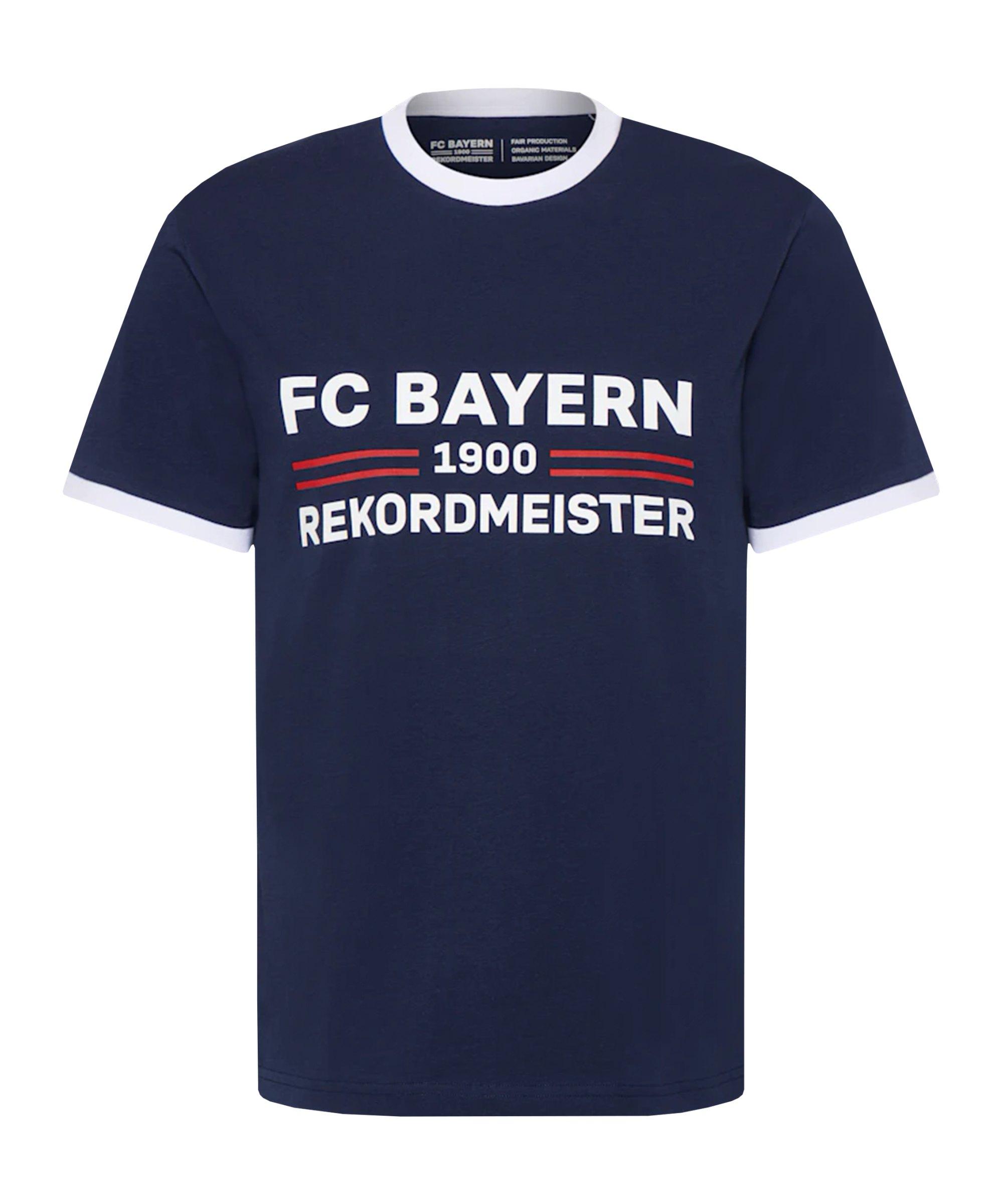 FC Bayern München Rekordmeister T-Shirt Blau - blau