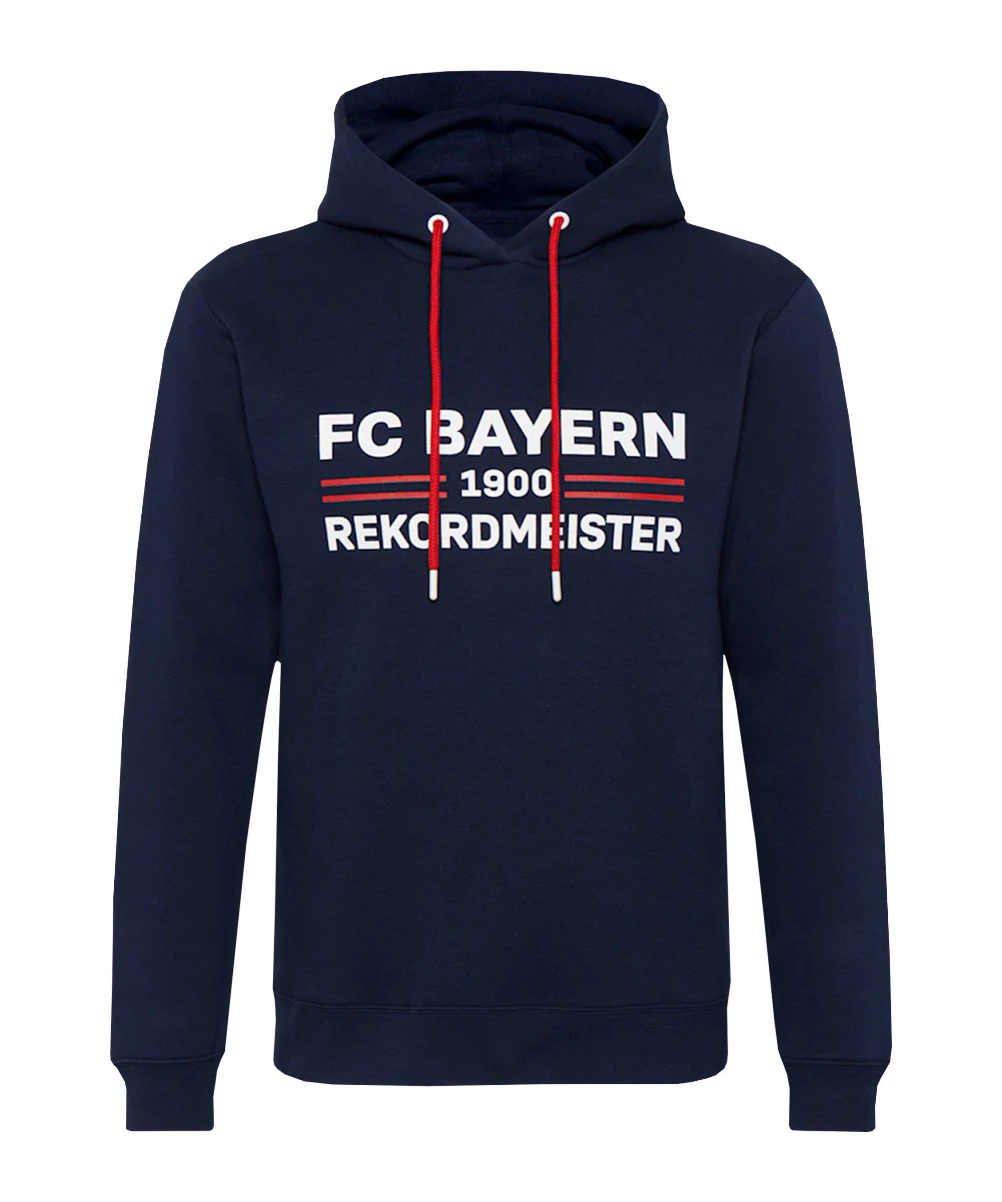 FC Bayern München Rekordmeister Hoody Blau - blau