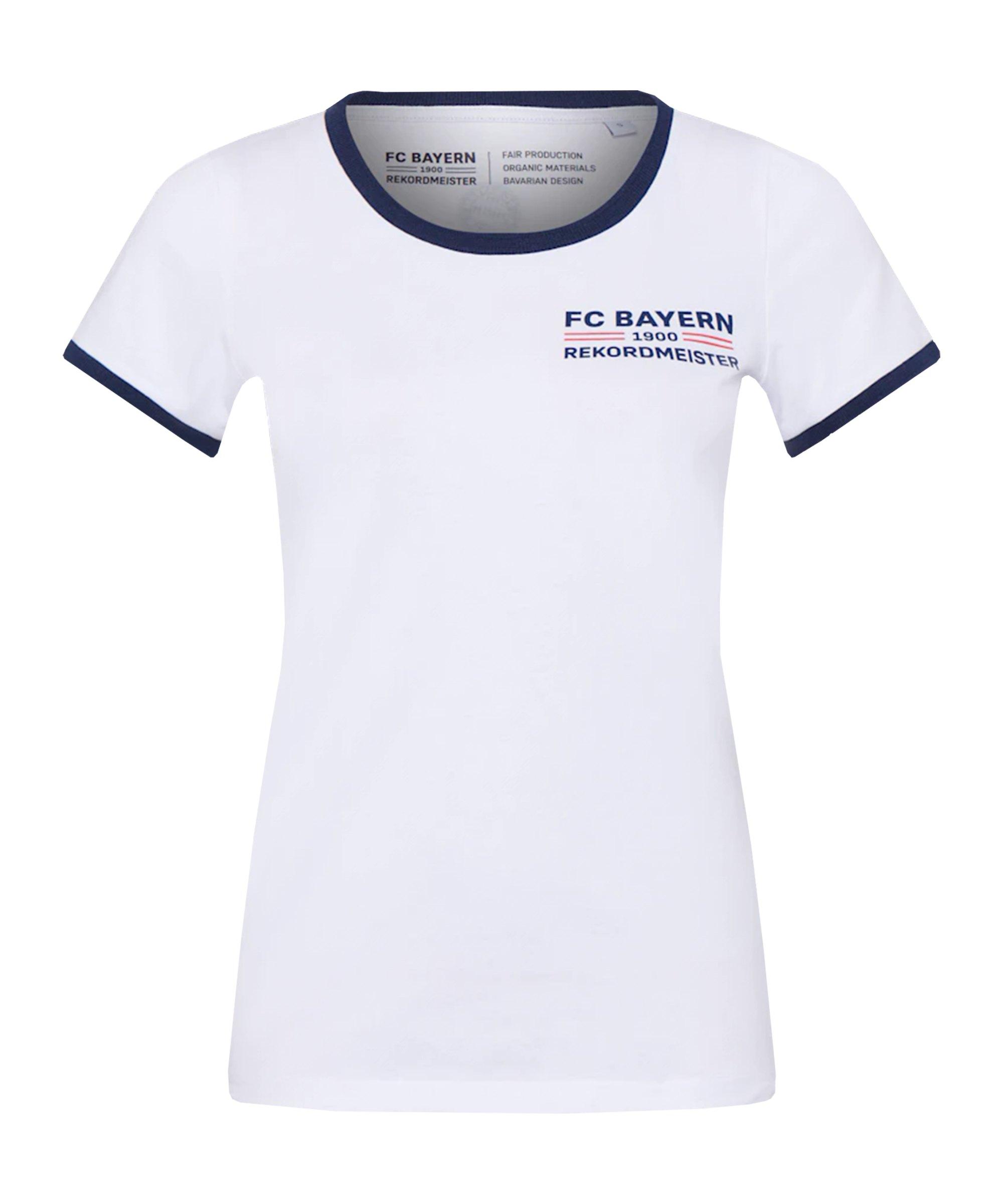 FC Bayern München Rekordmeister Shirt Damen Weiss - weiss