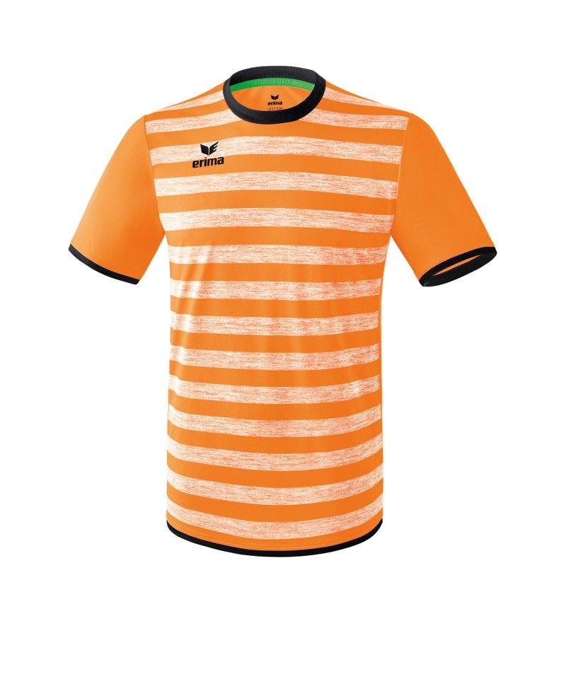 Erima Barcelona Trikot kurzarm Orange Schwarz - orange
