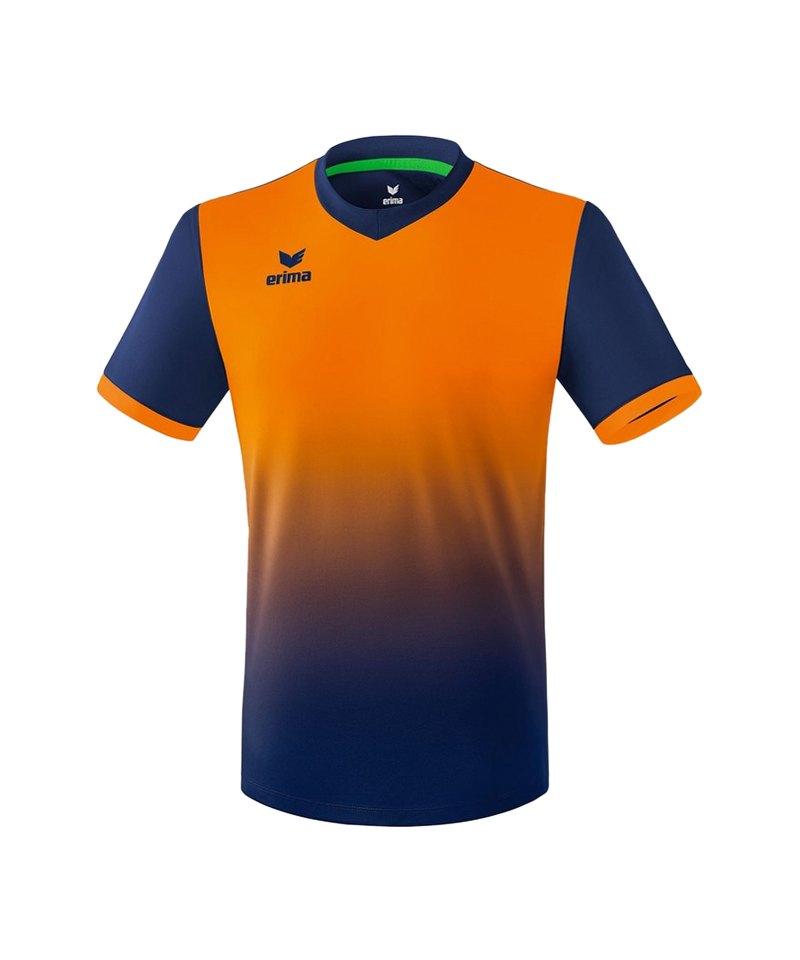 Erima Leeds Trikot kurzarm Kids Blau Orange - blau