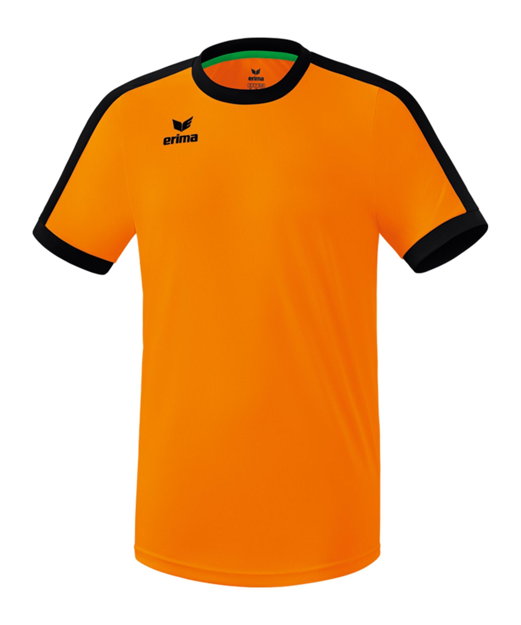 Erima Retro Star Trikot Orange Schwarz - orange